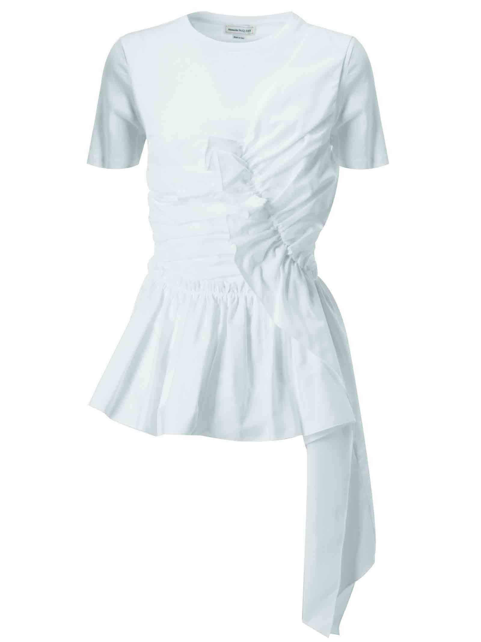 Alexander McQueen Asymmetric Cotton Dress