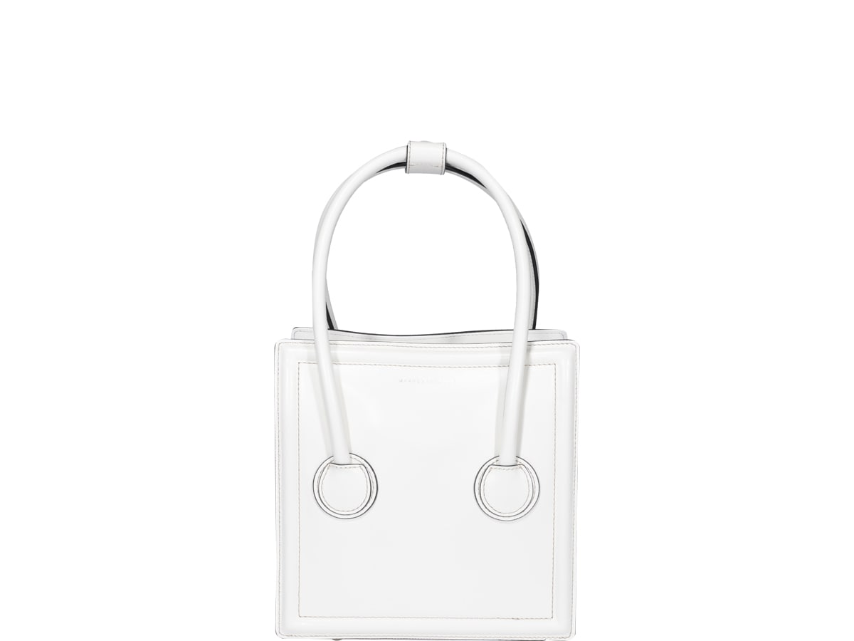 Marge Sherwood Boston Hand Bag In White