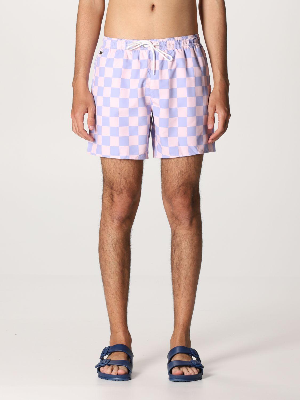 Lacoste L!ve Swimsuit Lacoste L! Ve Checkered Boxer Swimsuit