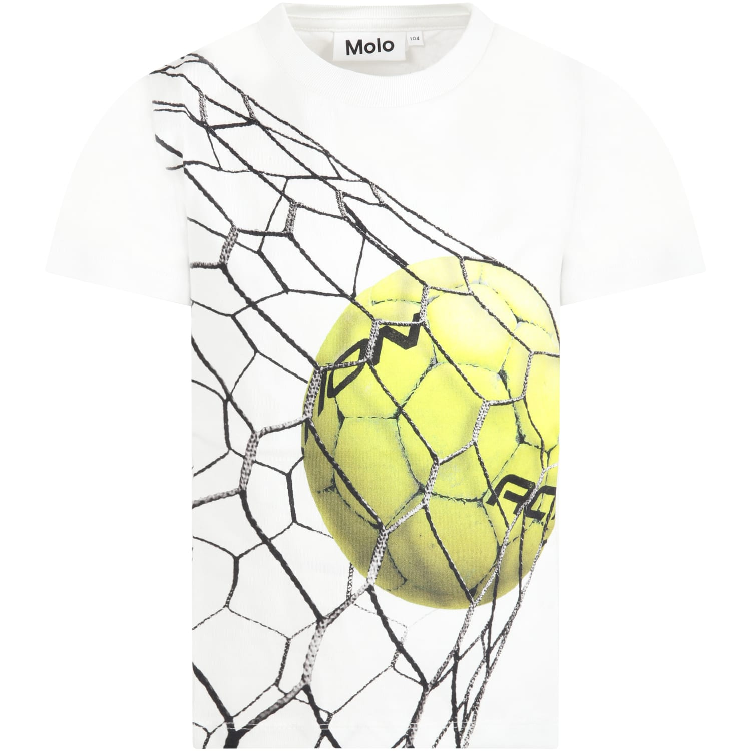 Molo WHITE T-SHIRT FOR BOY WITH BALL
