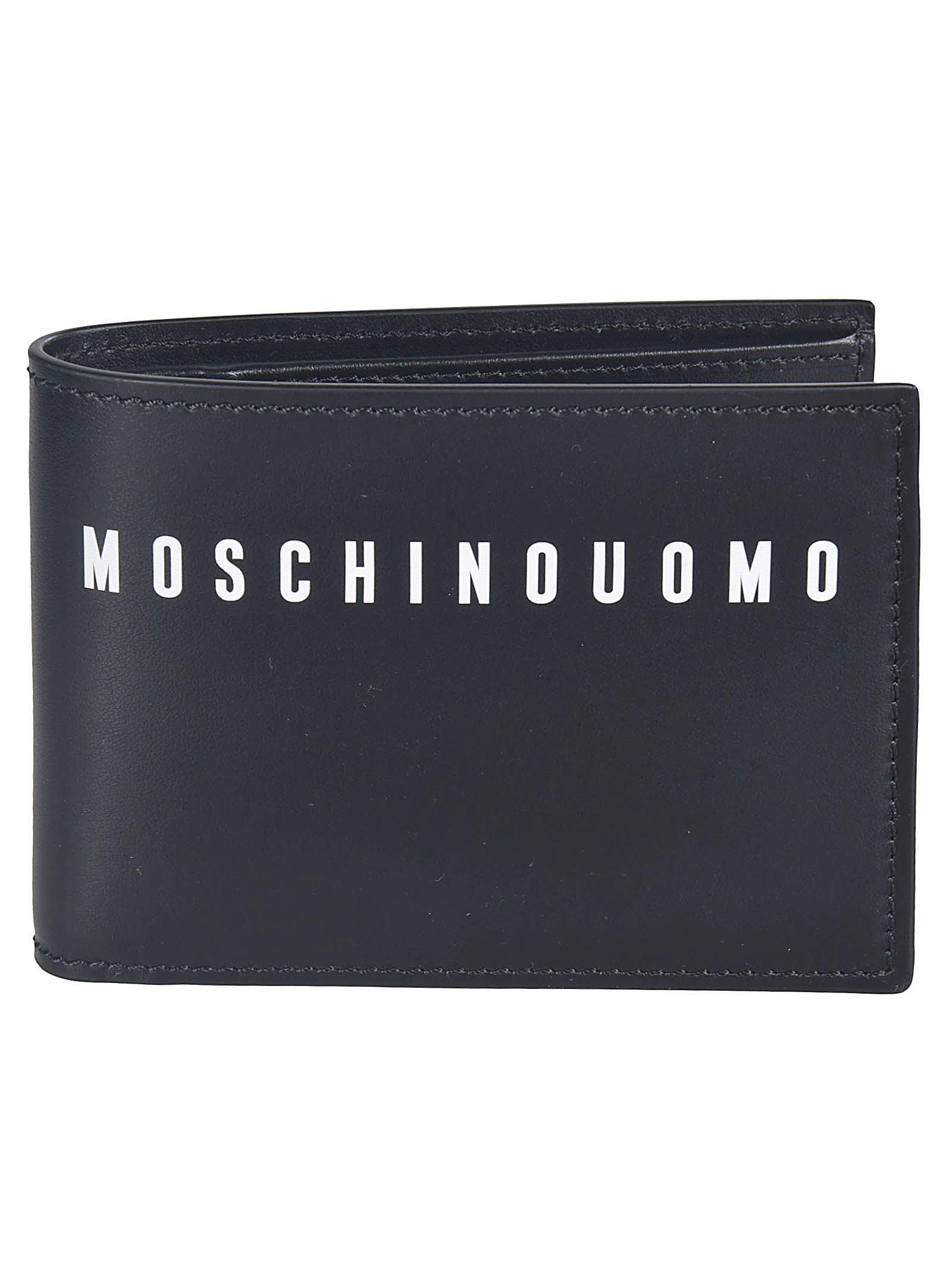 Moschino Logo Print Bifold Wallet