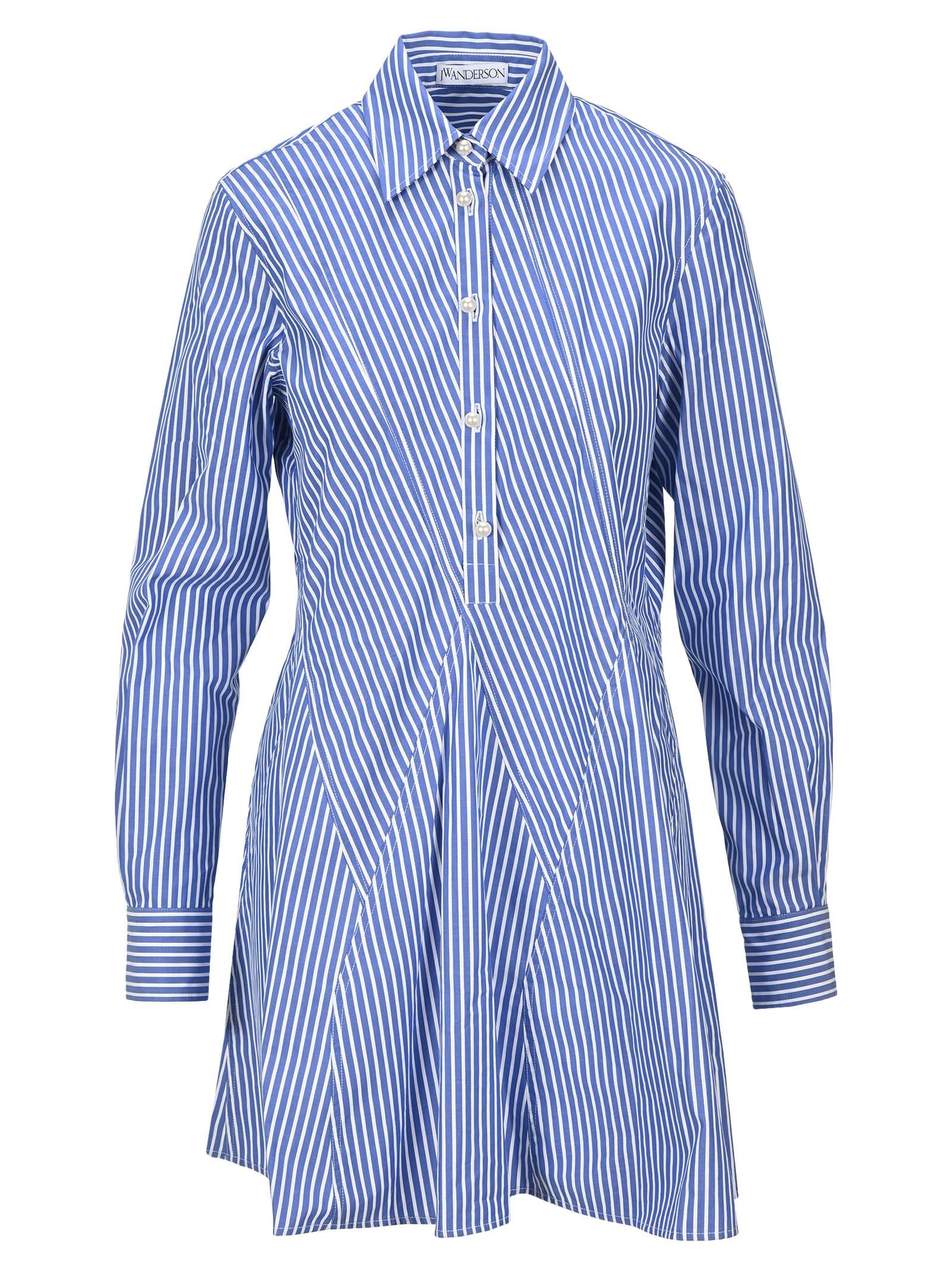 Jw Anderson Godet-hem Shirt Dress