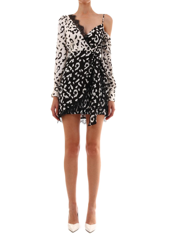 self-portrait Leopard Printed Wrap Dress