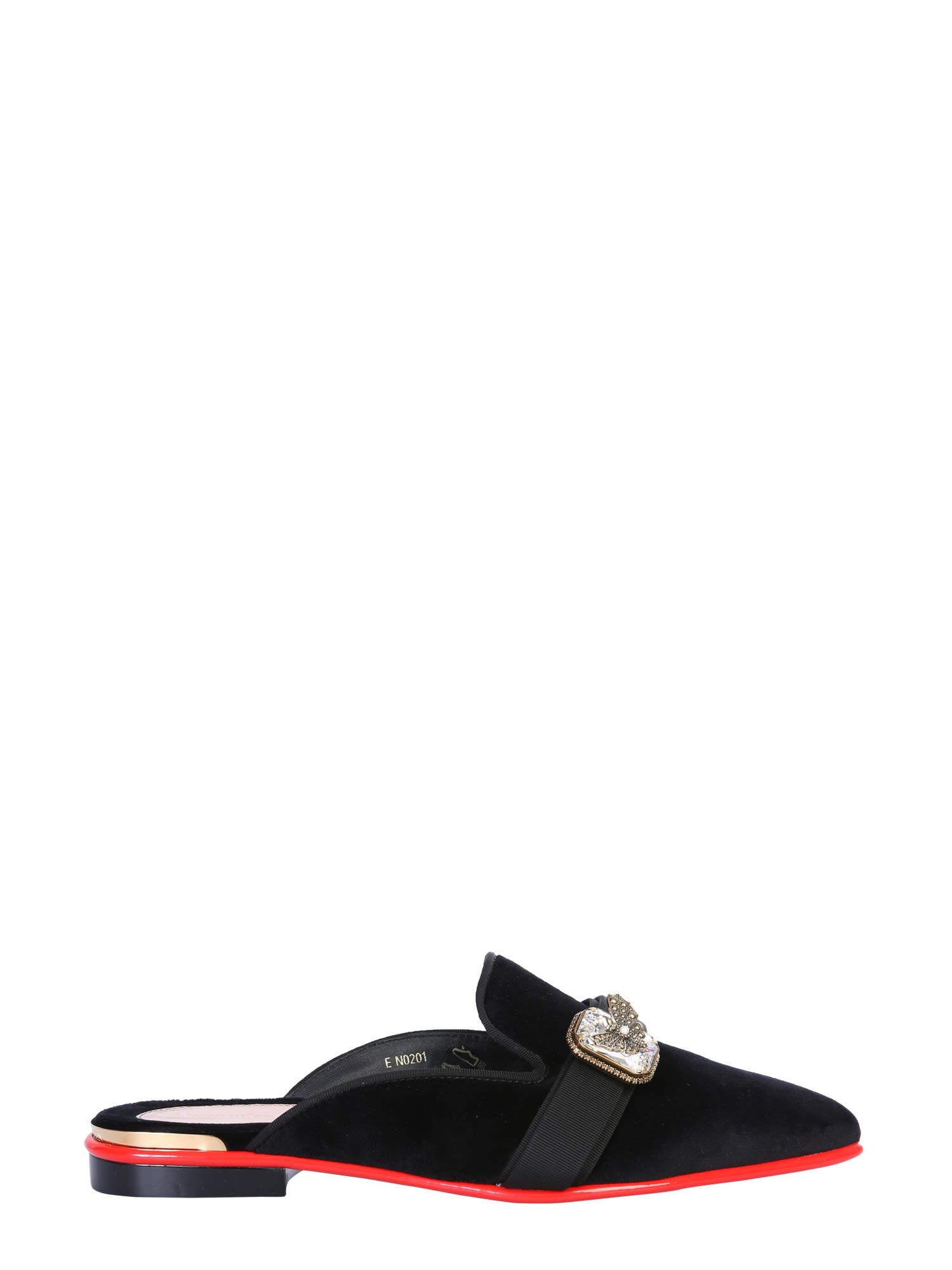 Alexander McQueen Mules Sandal With Jewel