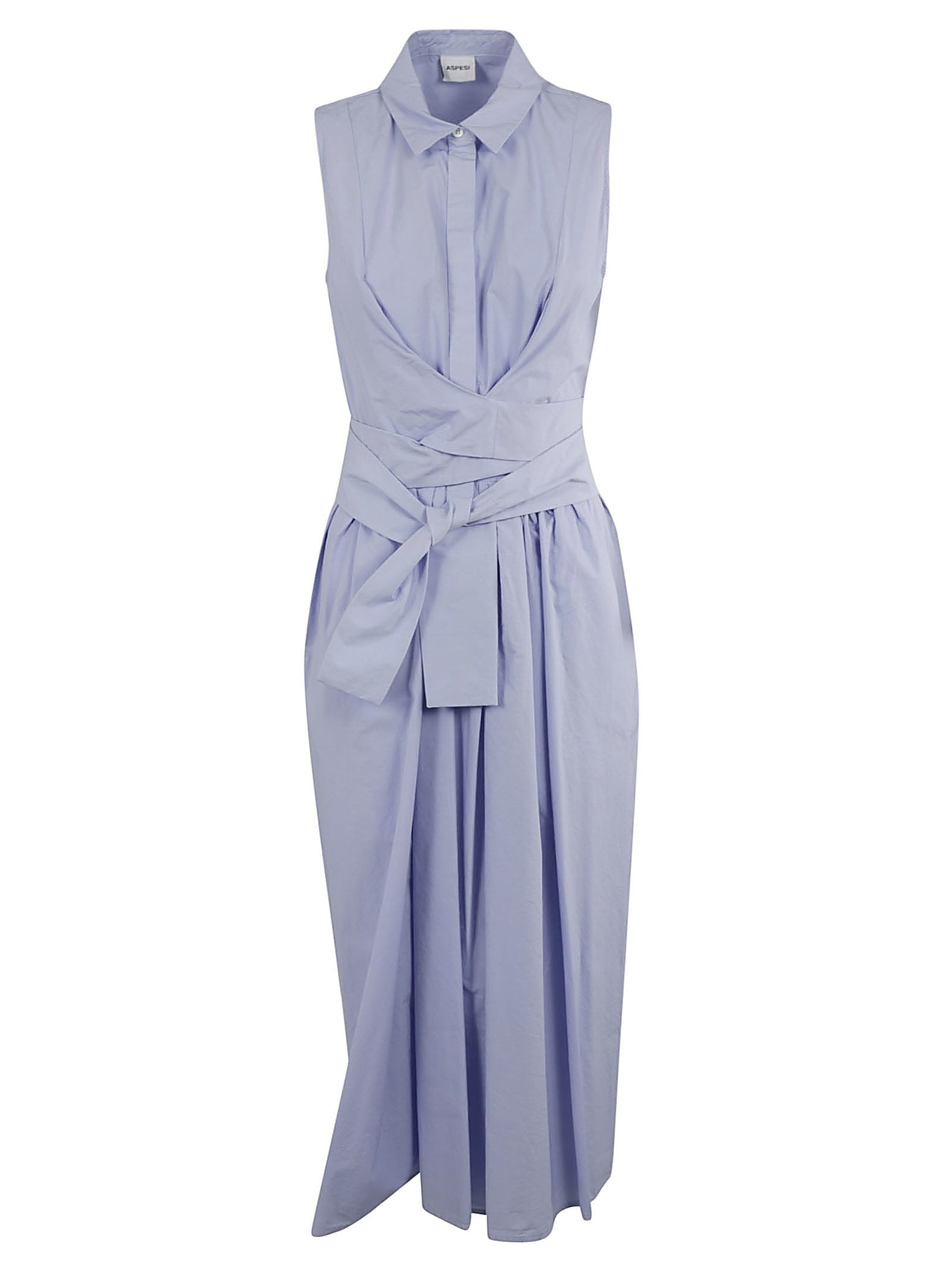 Buy Aspesi Belt Wrap Sleeveless Maxi Dress online, shop Aspesi with free shipping