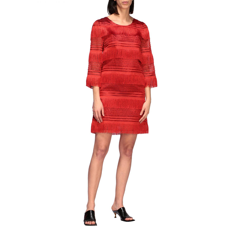 Buy Alberta Ferretti Dress Alberta Ferretti Dress With All Over Fringes online, shop Alberta Ferretti with free shipping