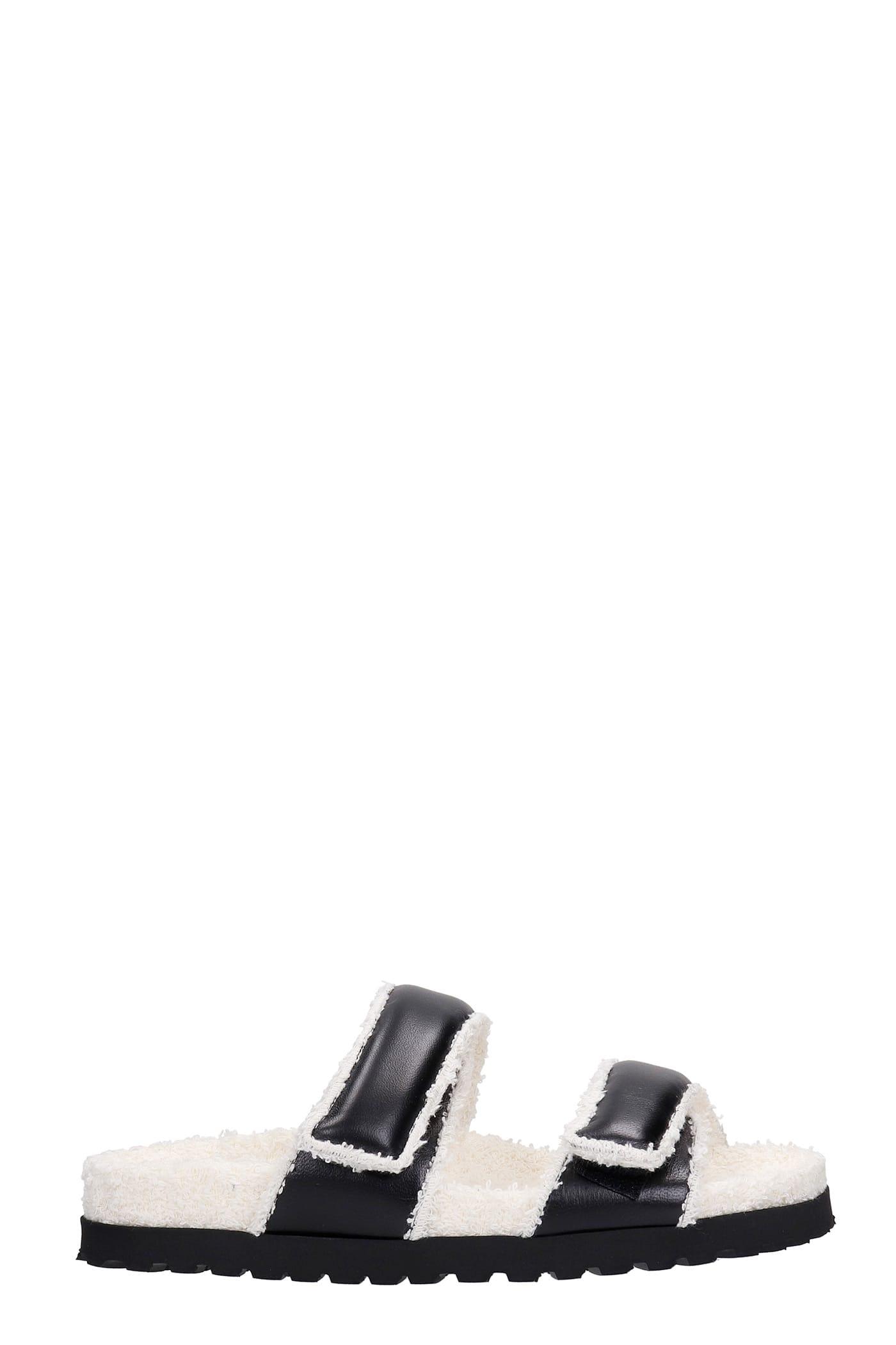 Perni 11 Flats In Black Leather