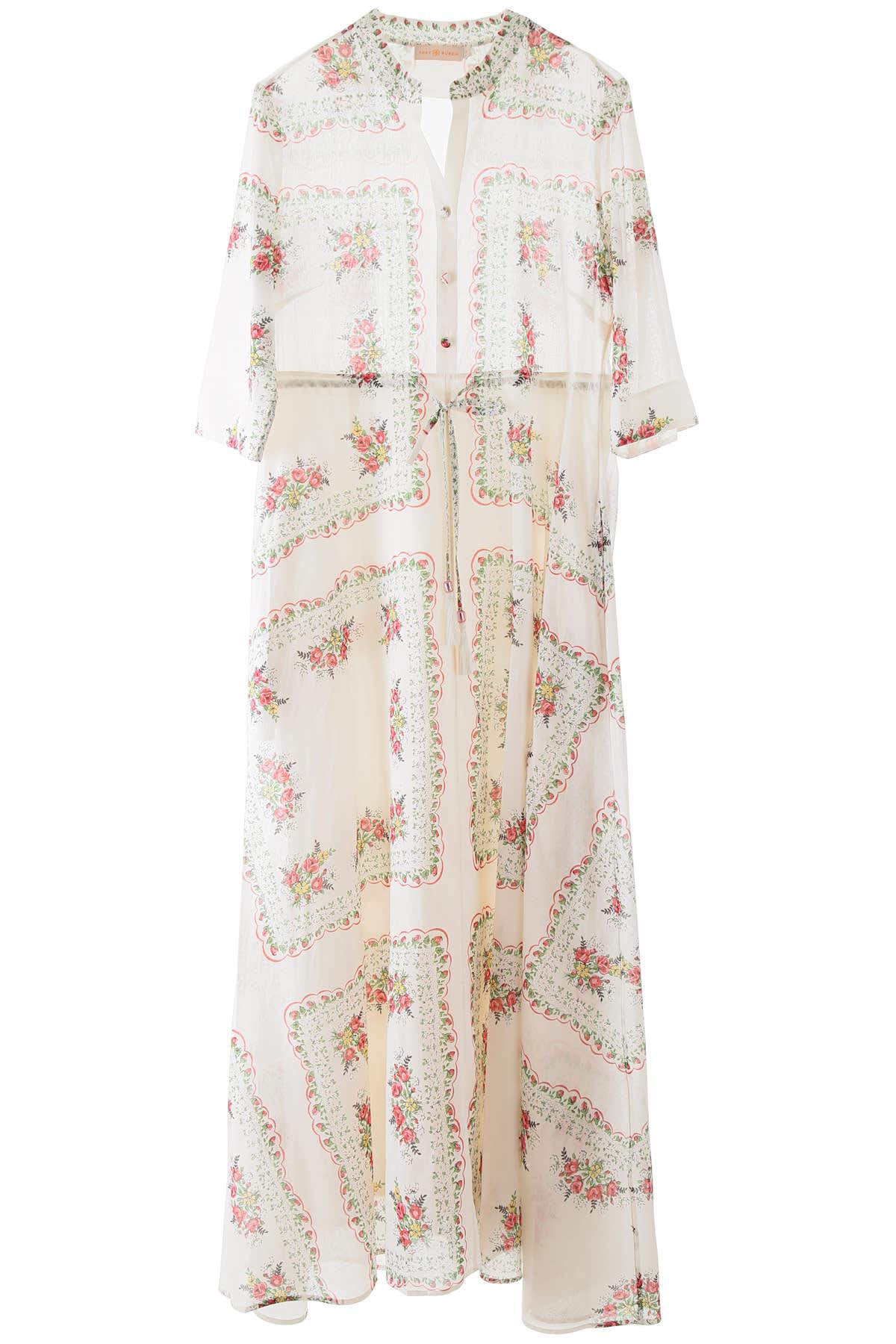 Buy Tory Burch Printed Shirt Dress online, shop Tory Burch with free shipping