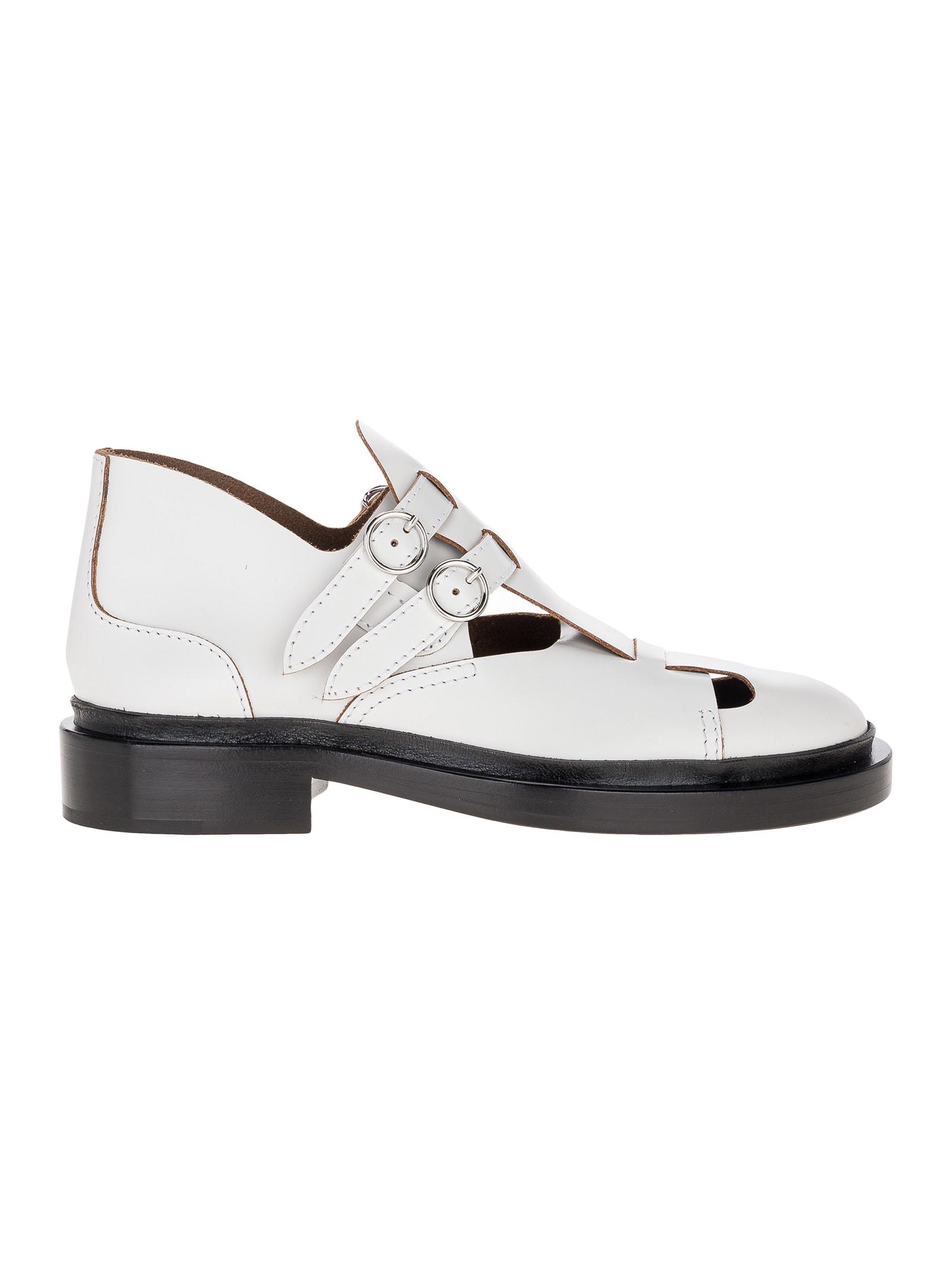 Buy Jil Sander Cut Out Buckle Sandal online, shop Jil Sander shoes with free shipping