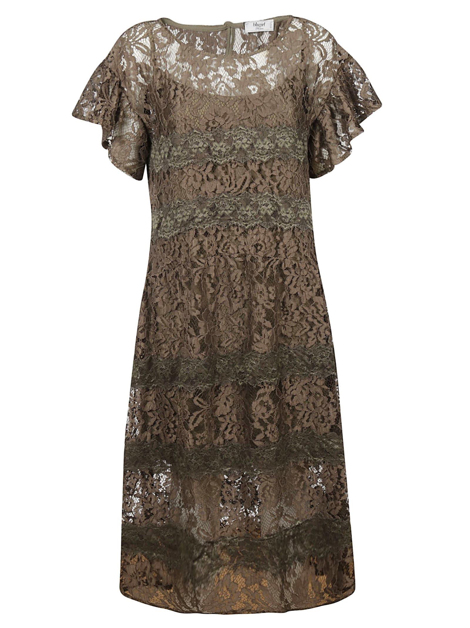 Blugirl Perforated Floral Dress