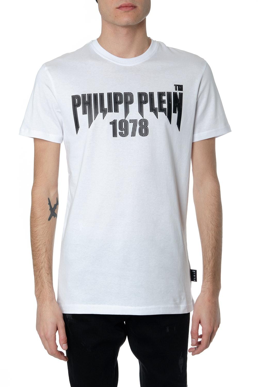 Philipp Plein T-shirt In Cotone Bianco Con Stampa Philipp Plein 1978