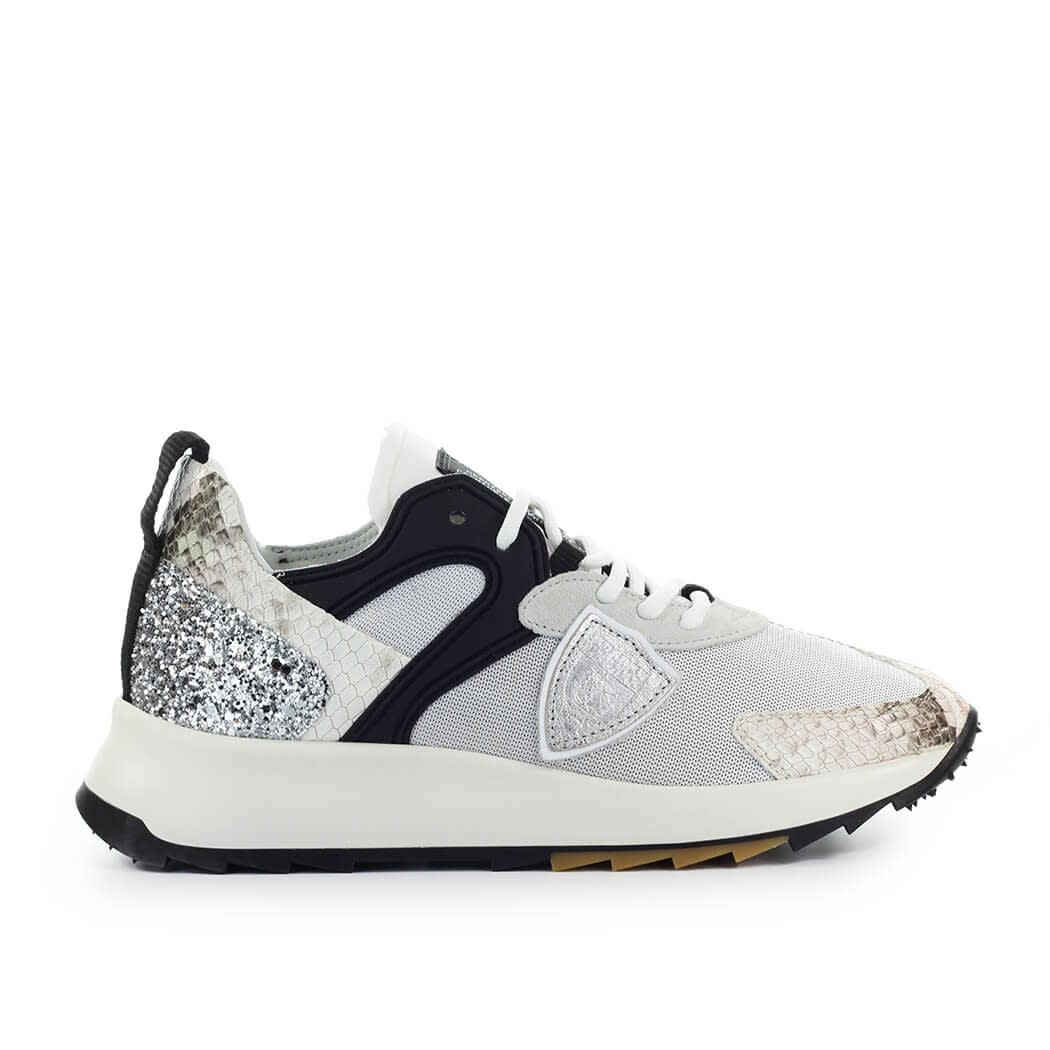 Philippe Model ROYALE PYTHON SILVER BEIGE SNEAKER