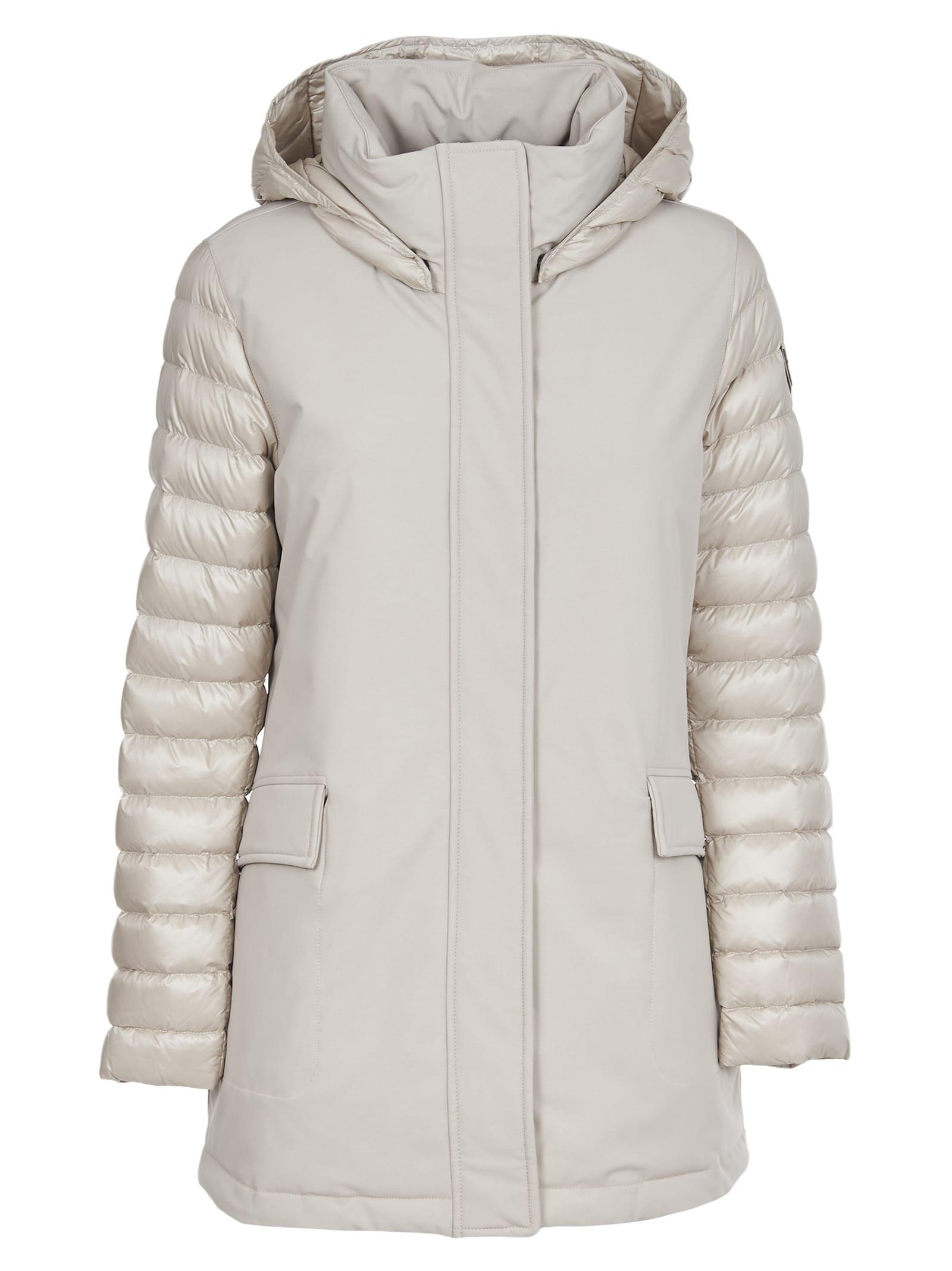 Colmar White Long Jacket Double-tissue
