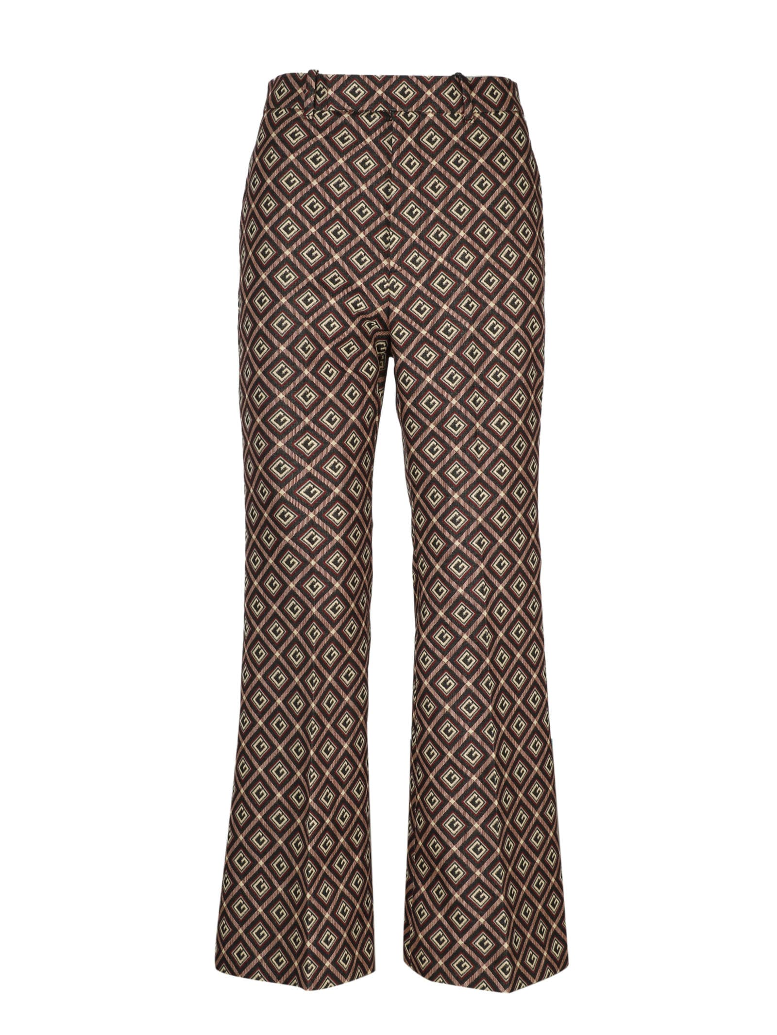GUCCI G FLARE CROPPED PANTS