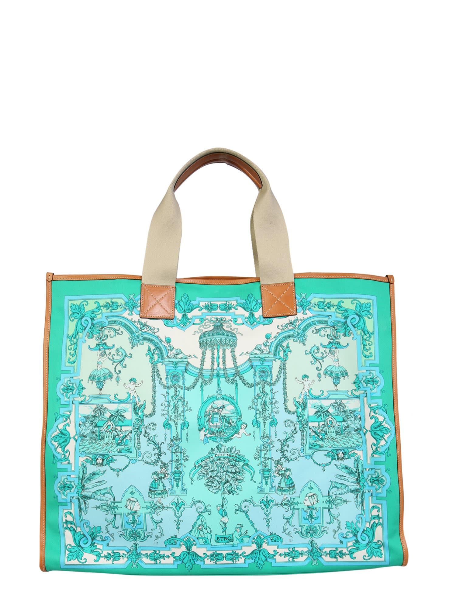 Etro Shopping Bag With Logo Print