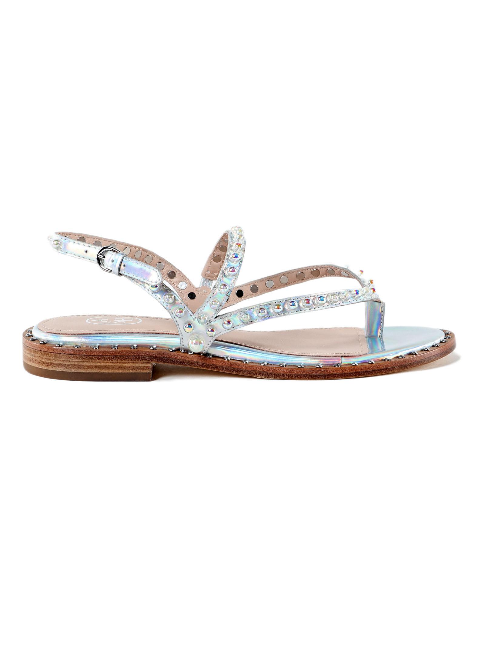 9dbbeb52c Ash Ash Pearl Flat Sandals - Rainbow Silver - 10794227 | italist