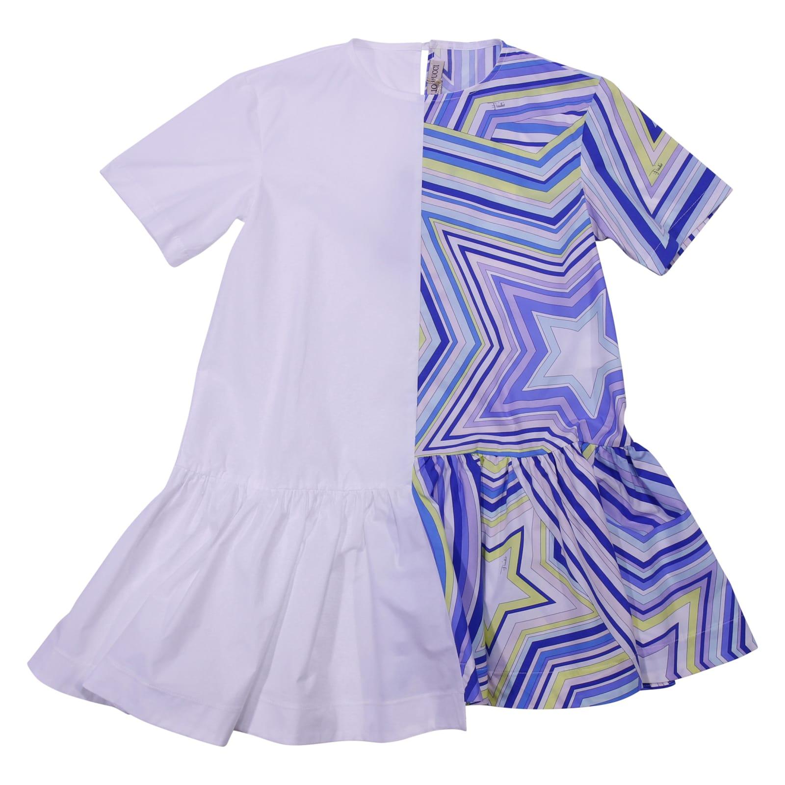 Emilio Pucci Printed Cotton Poplin Dress