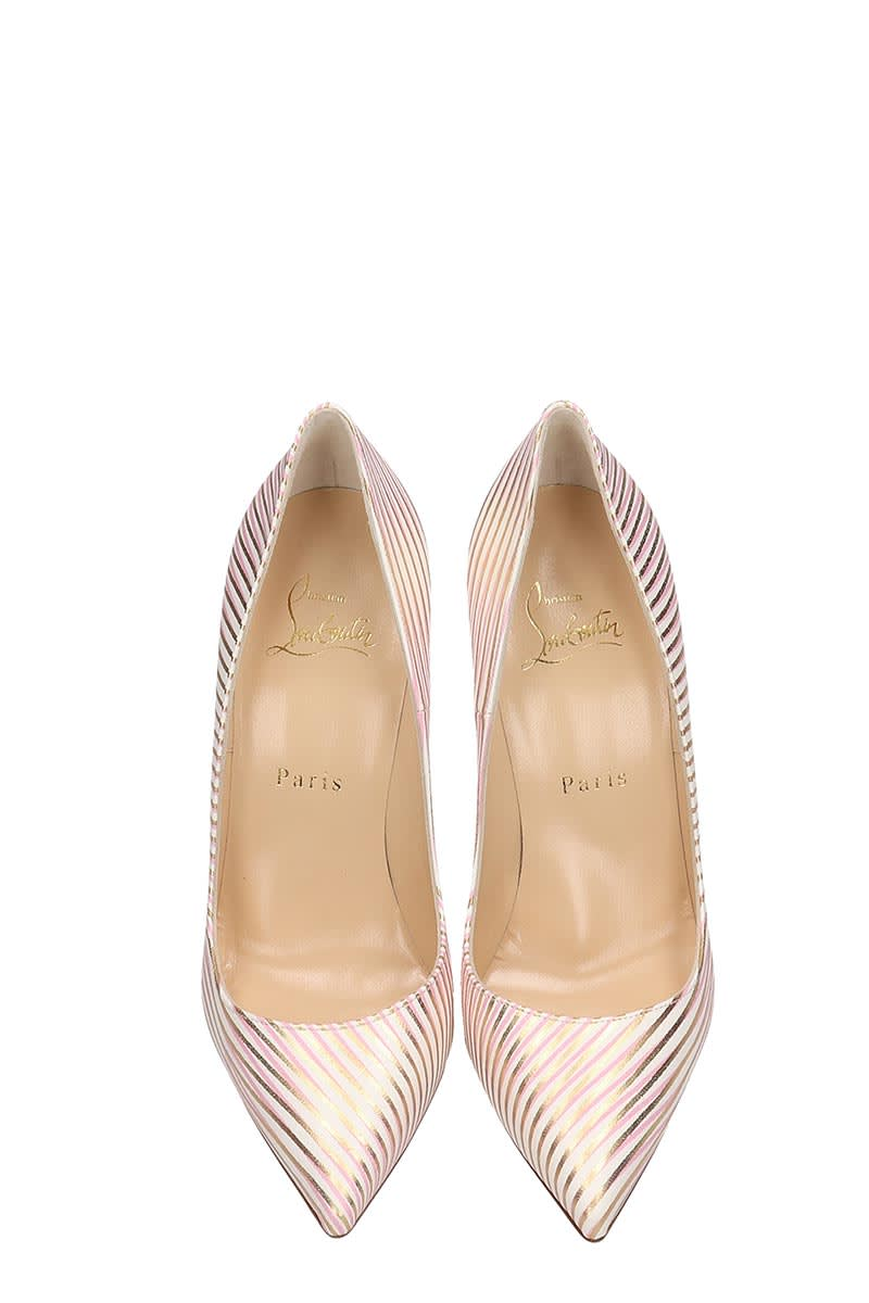 best sneakers 88482 5fc28 Christian Louboutin So Kate 120 White Red Gold Leather Pumps
