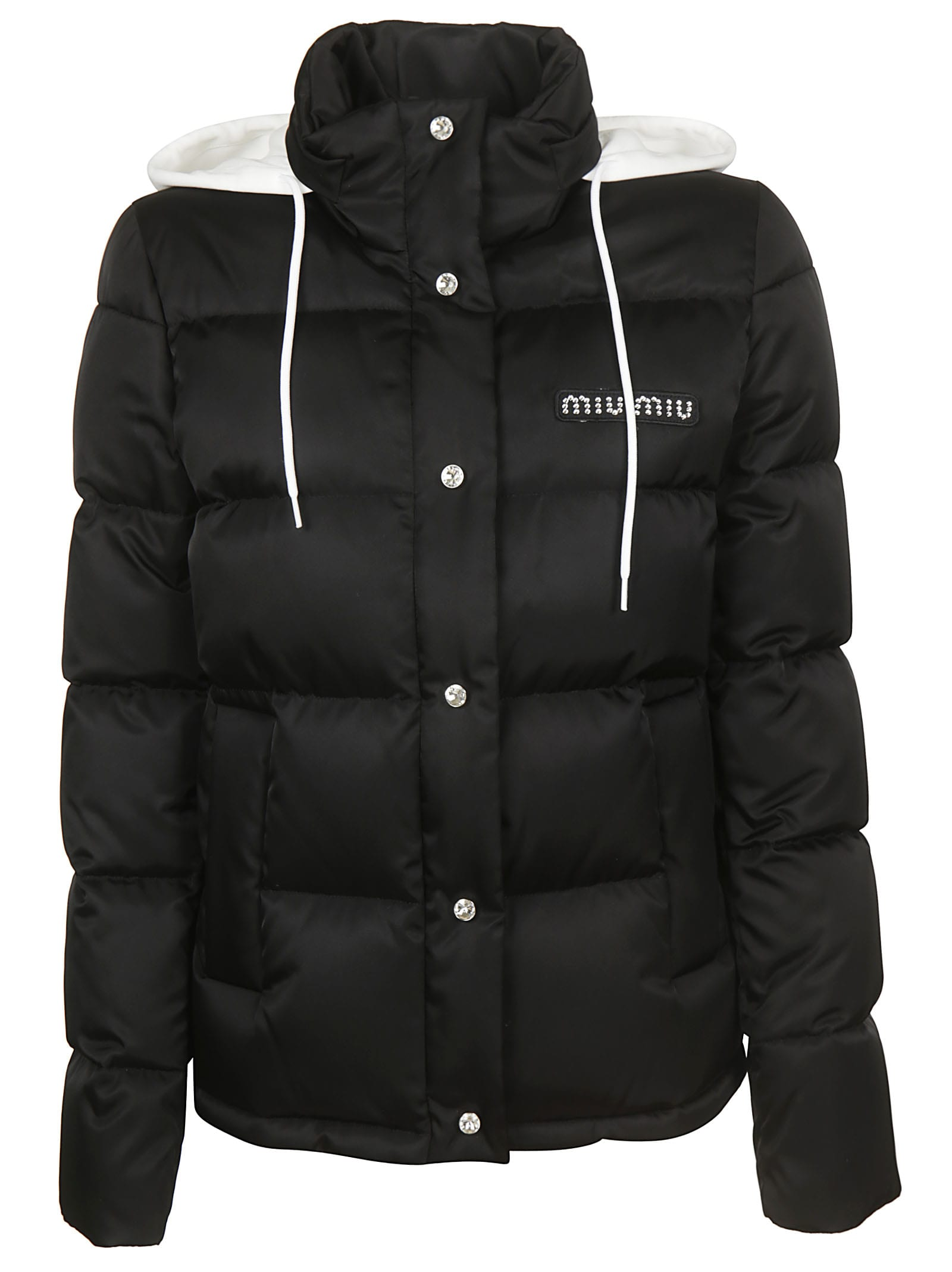 Miu Miu Logo Patch Down Jacket