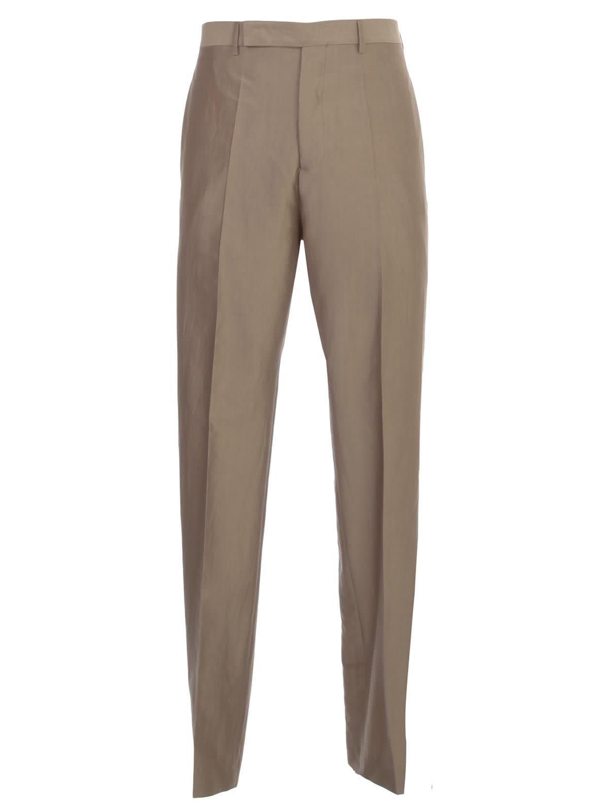 Pants Slim Silk And Cotton