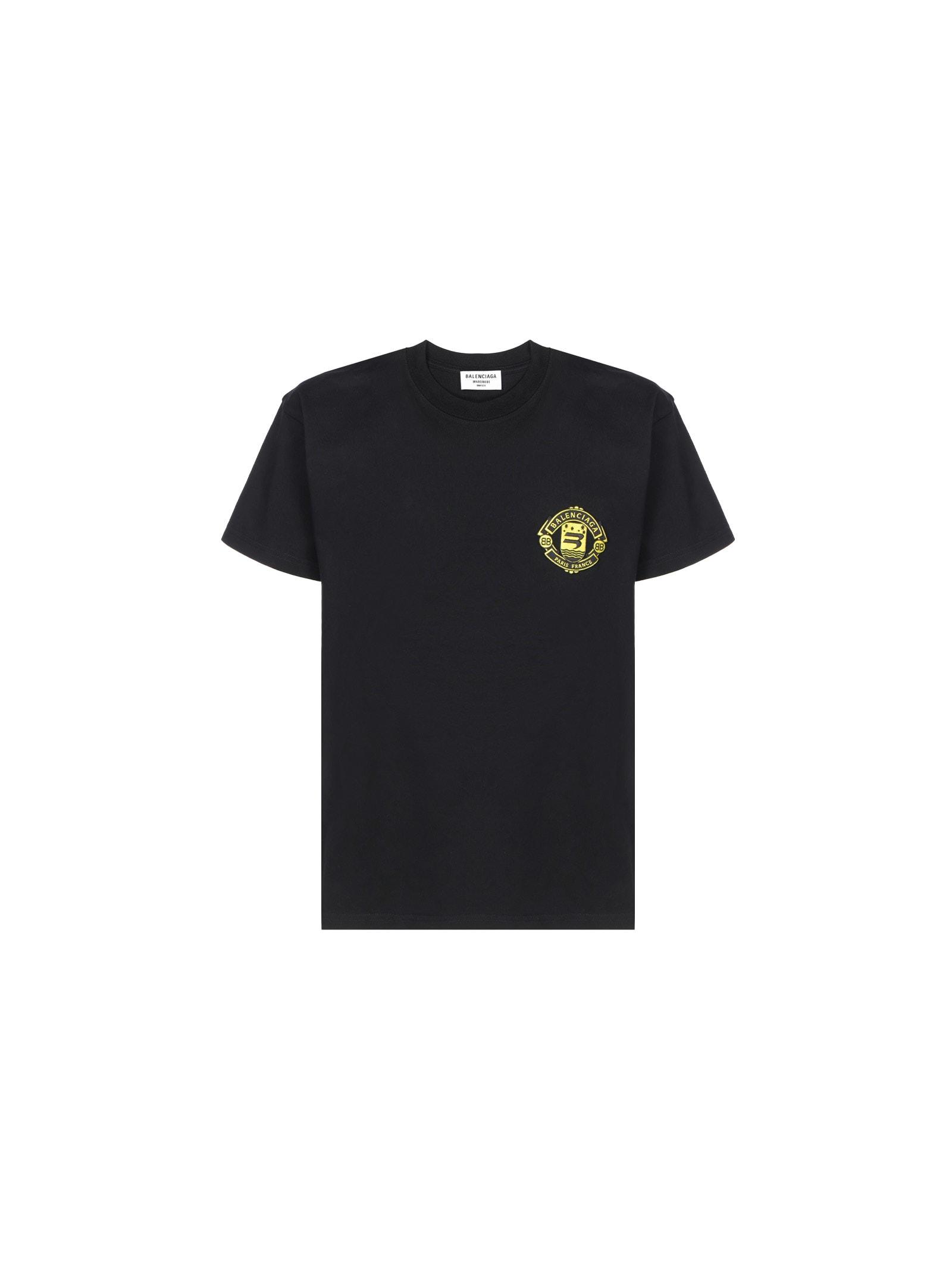 Balenciaga Barcode T-shirt In Black