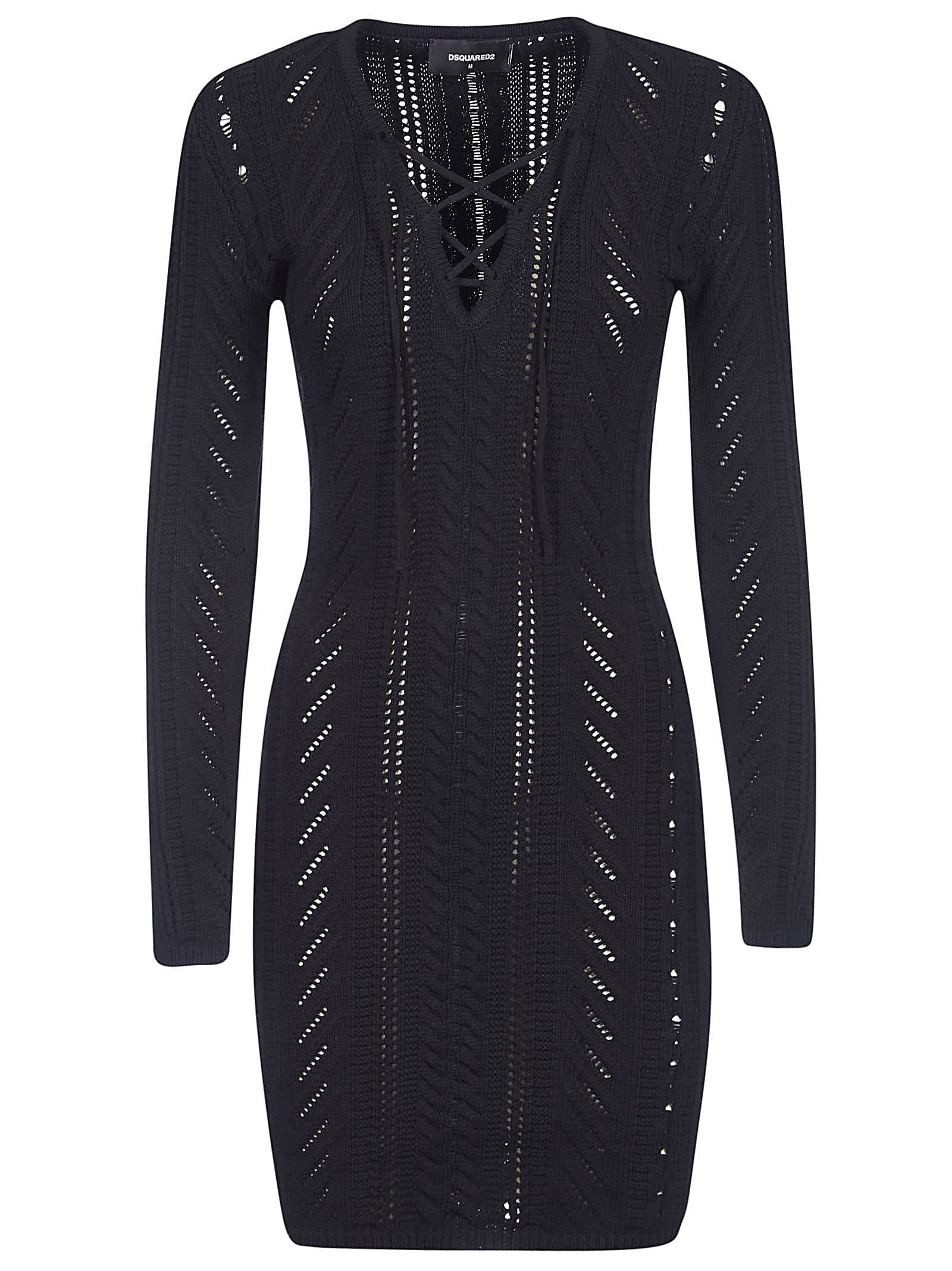 Buy Dsquared2 Knitted Mid-length Dress online, shop Dsquared2 with free shipping