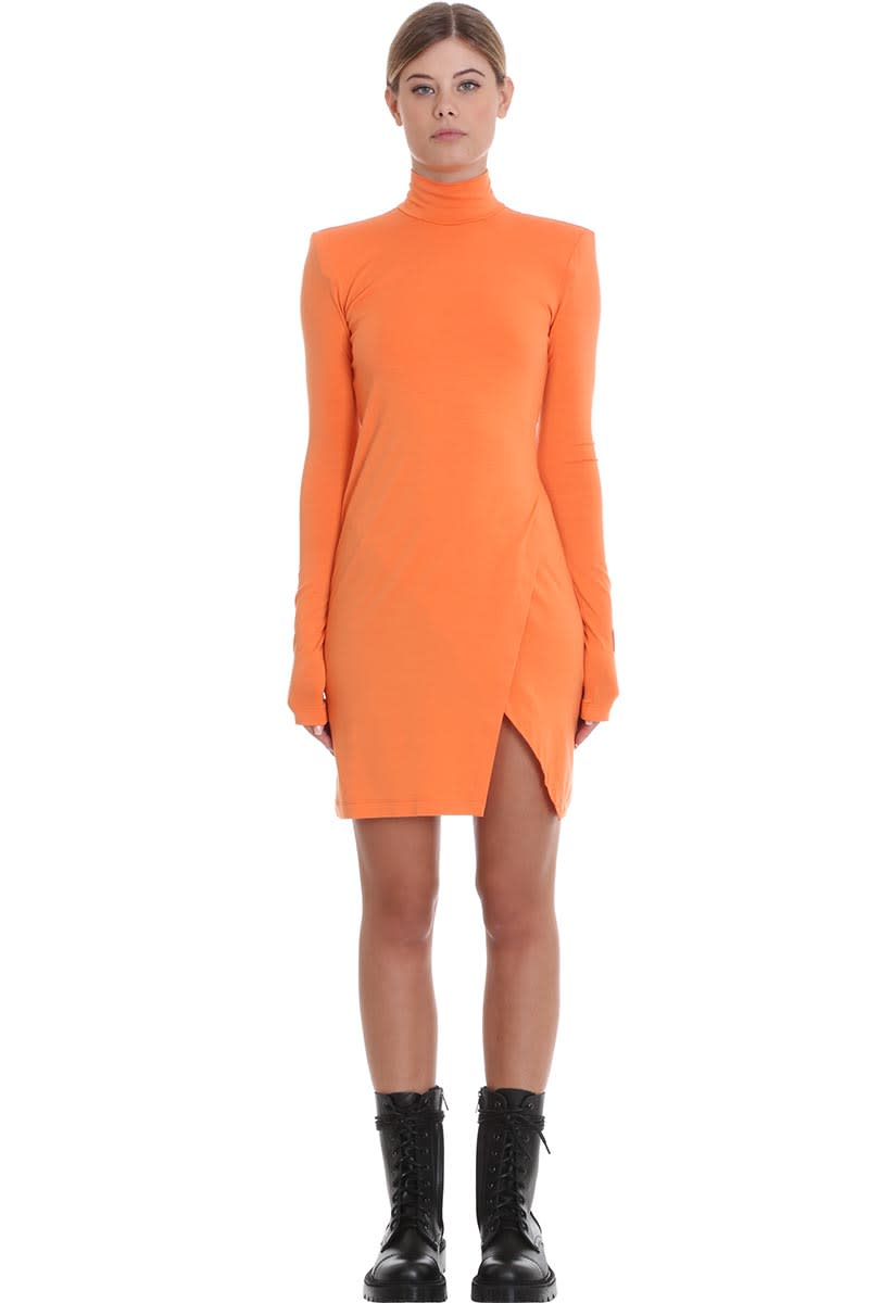 HERON PRESTON Jersey Dress Dress In Orange Cotton