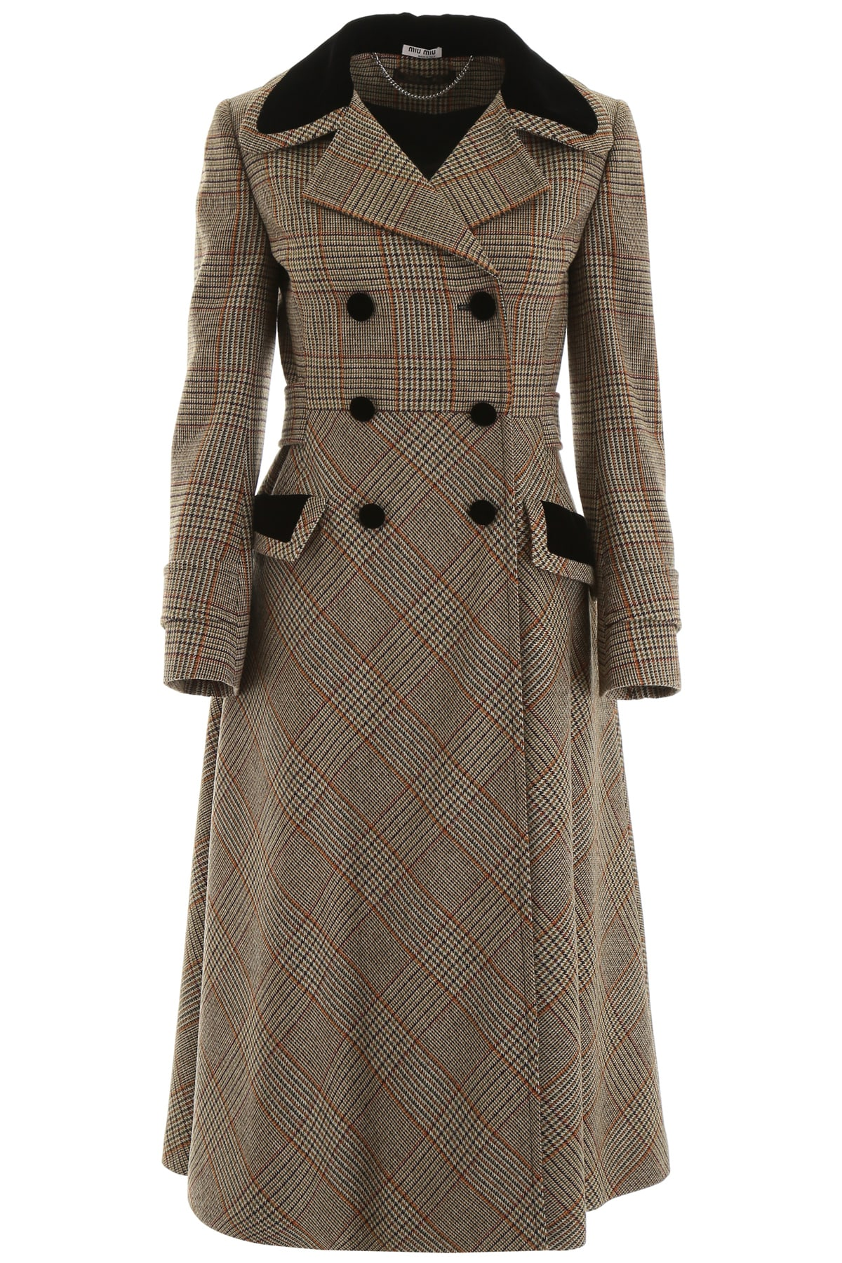 Miu Miu Prince Of Wales Coat