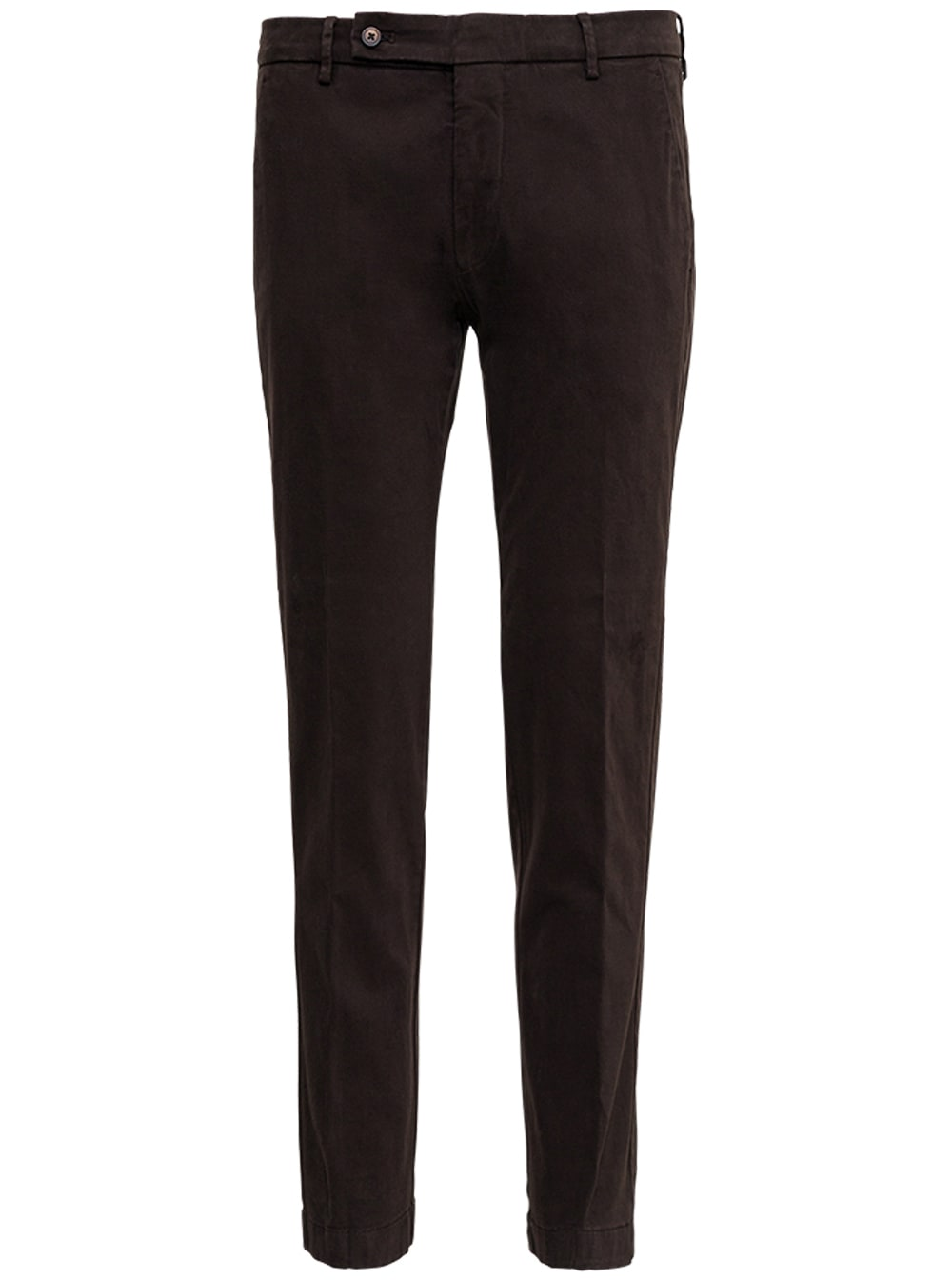 Brown Cotton Tailored Pants