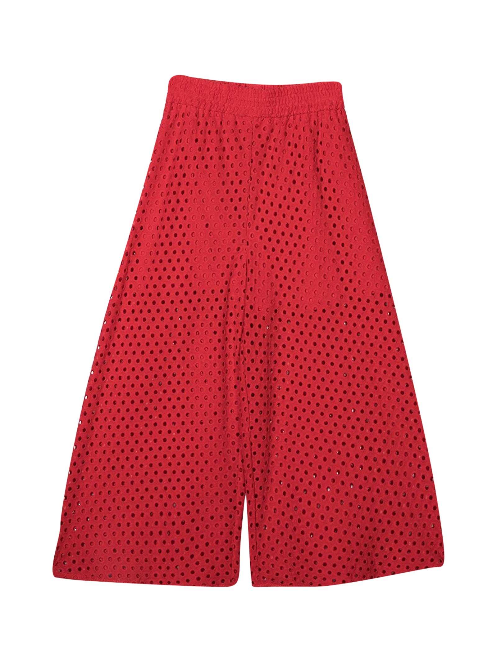 Monnalisa Cottons RED TROUSERS