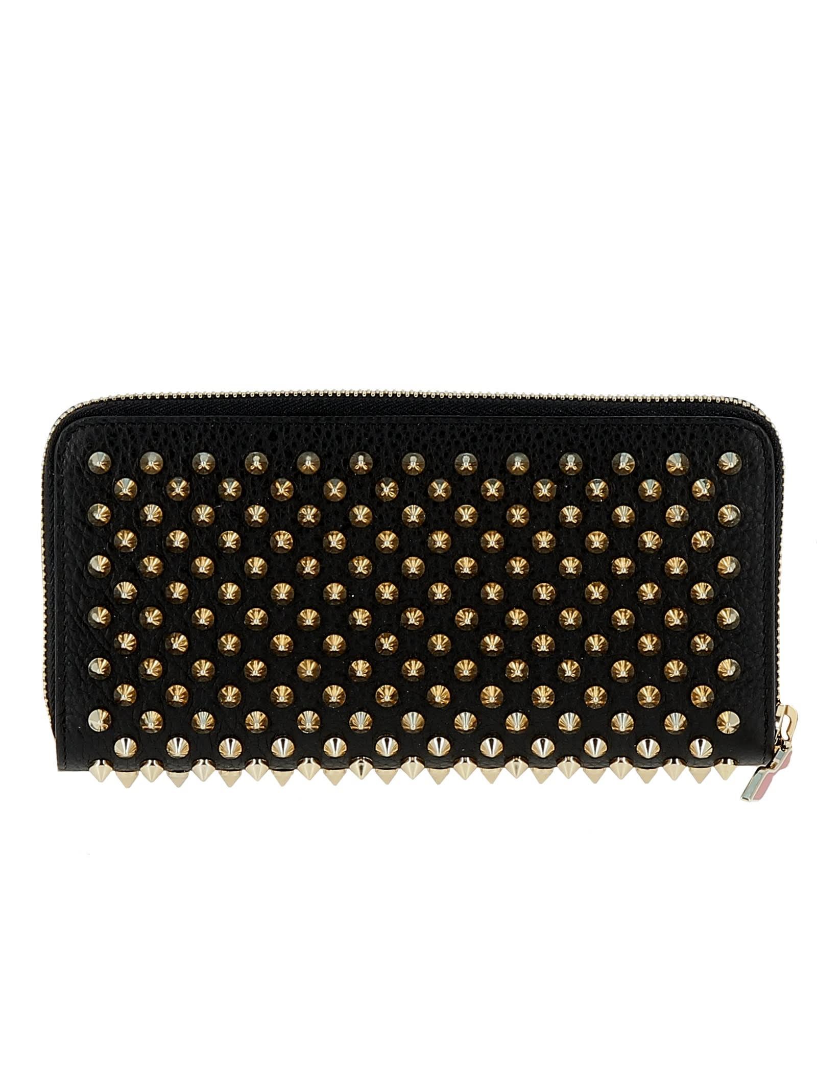best website 18ab0 4fde5 Christian Louboutin Black/gold Leather Wallet