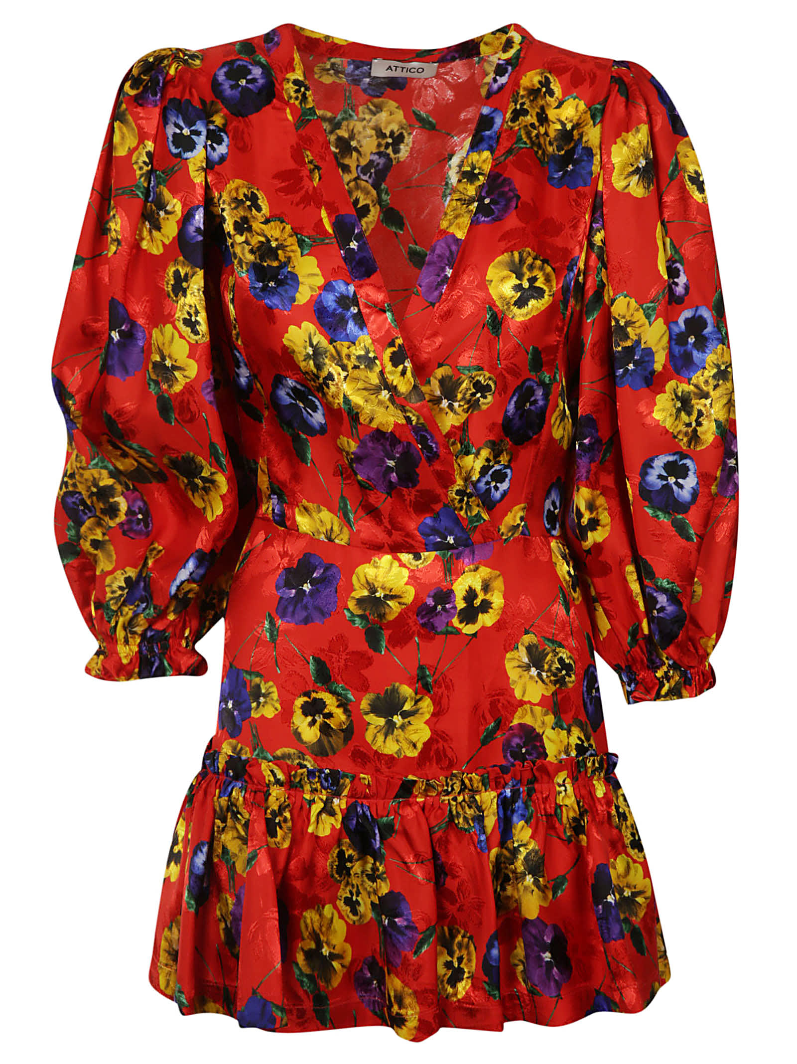 Buy The Attico Floral Printed Dress online, shop The Attico with free shipping
