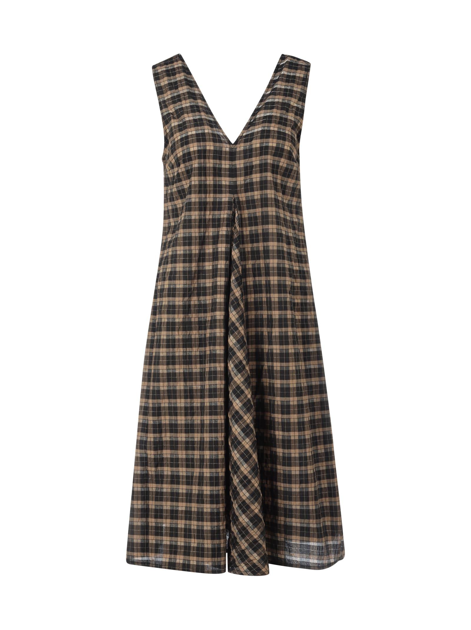 Buy Ganni Seersucker Check Dress online, shop Ganni with free shipping
