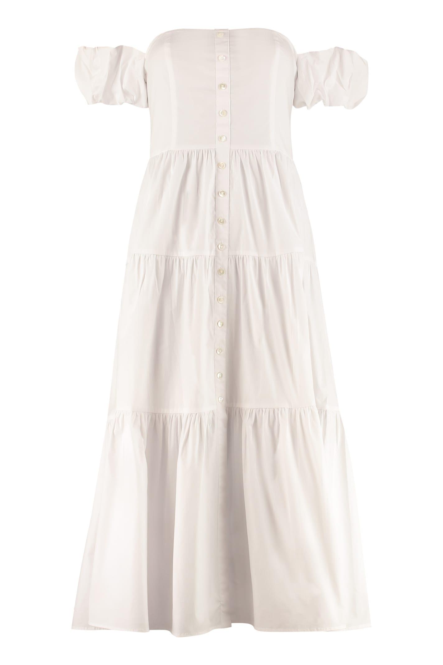 Buy STAUD Elio Poplin Midi Dress online, shop STAUD with free shipping