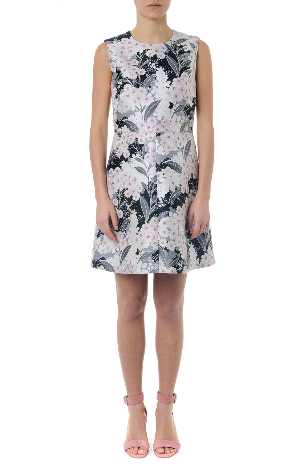 RED Valentino Multicolor Short Flower Dress