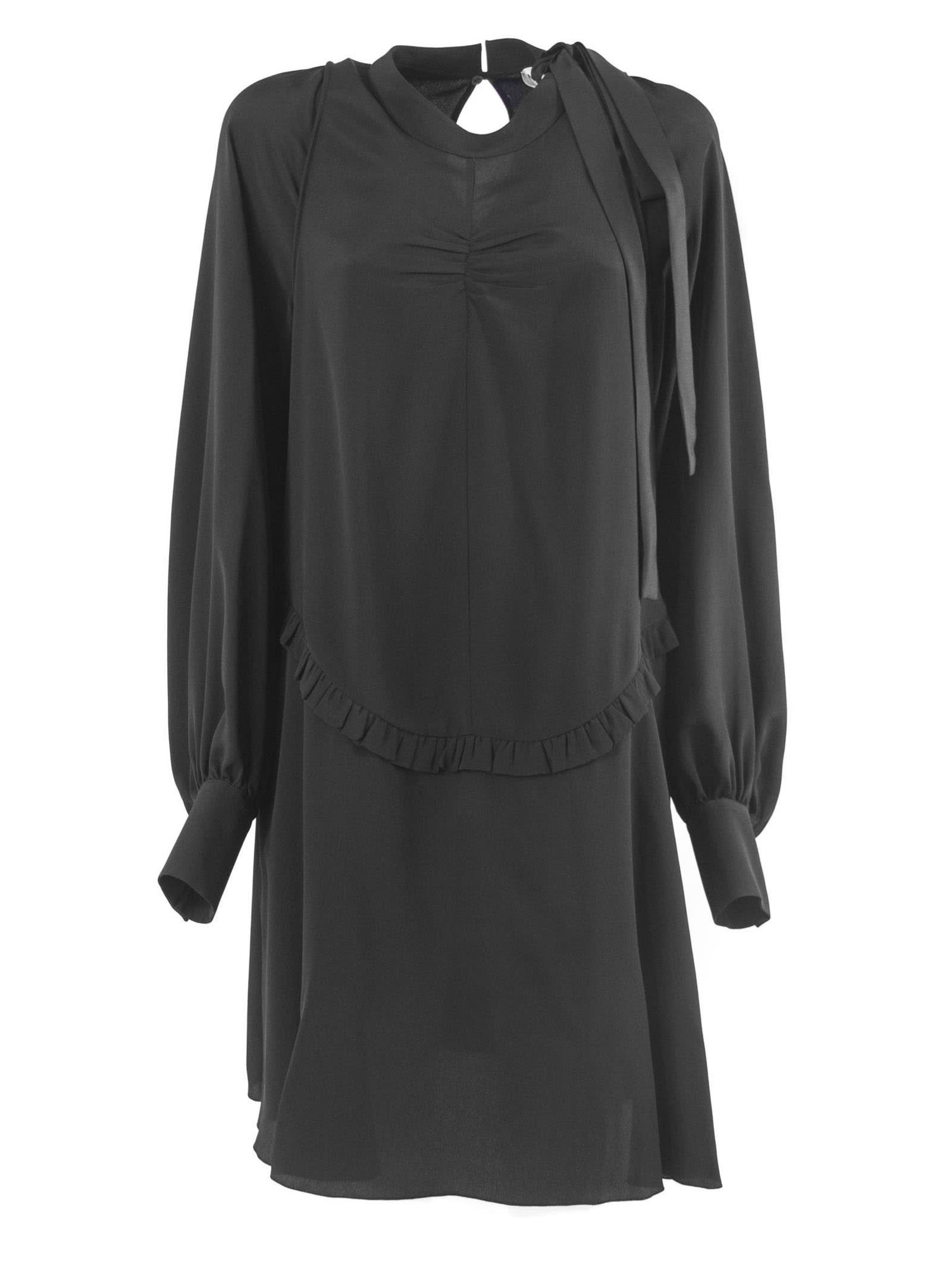 N.21 Dress In Black Silk Blend