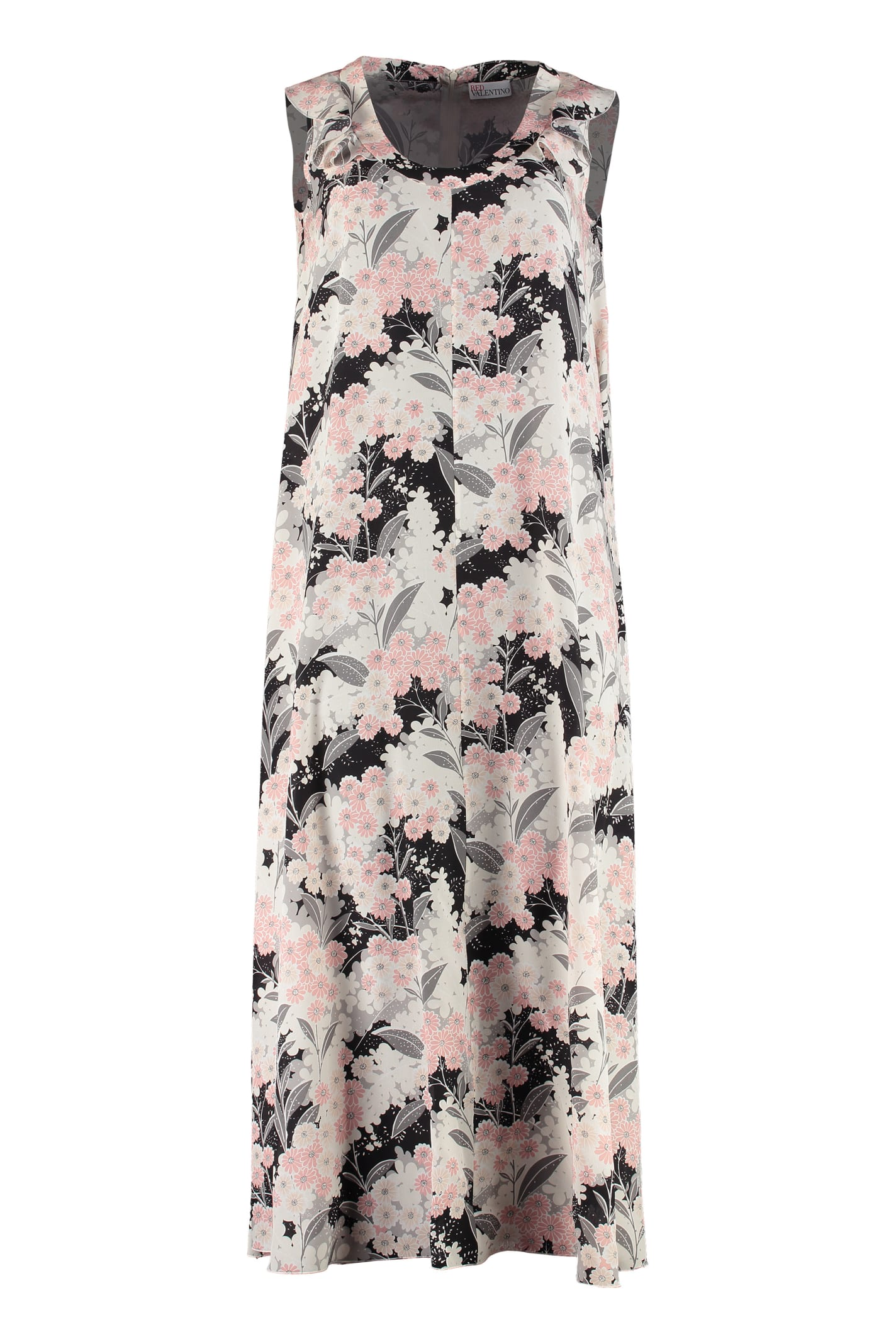 RED Valentino Floral Print Crêpe Maxi-dress