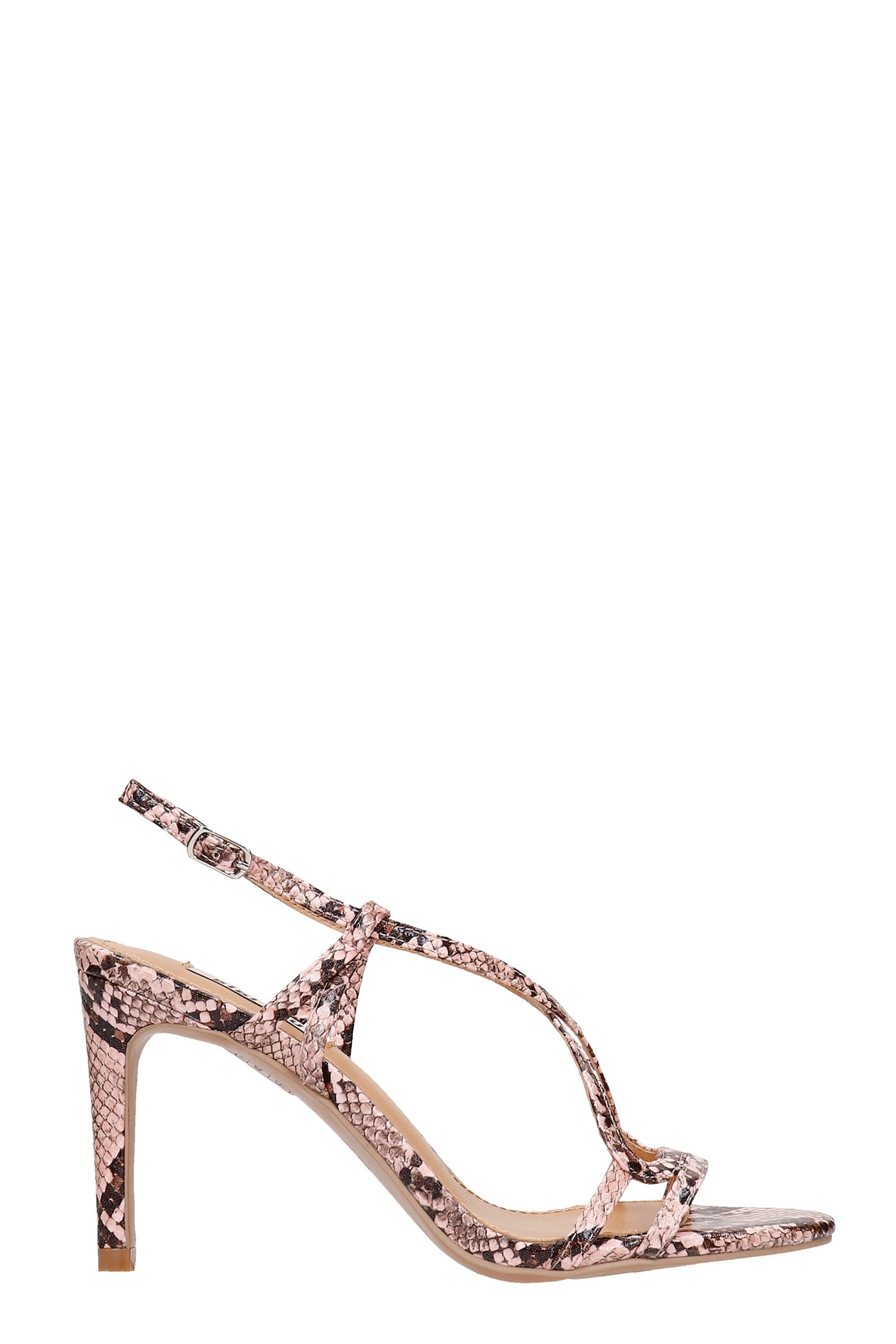 Sandals In Rose-pink Leather