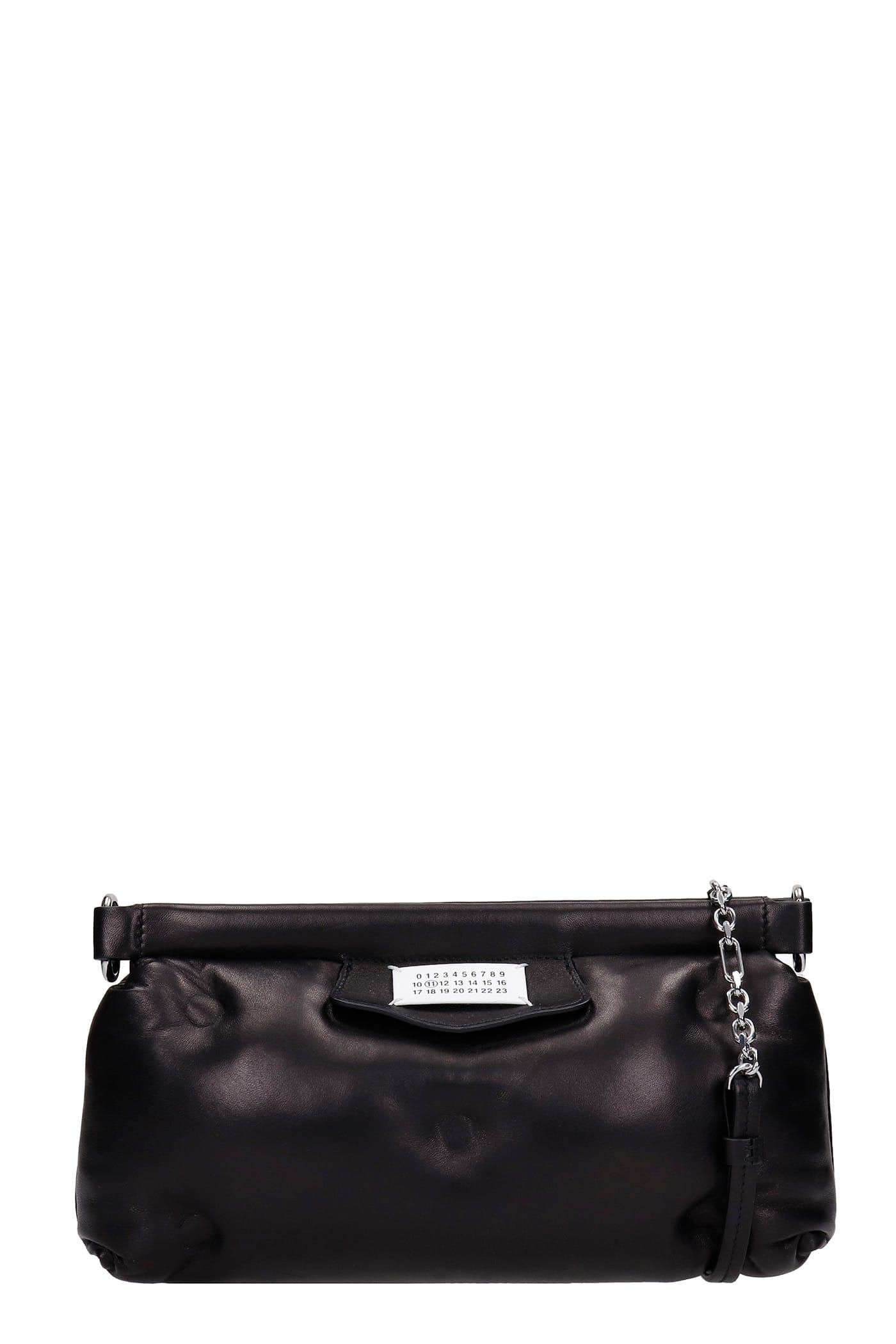 Maison Margiela Clutch In Black Leather