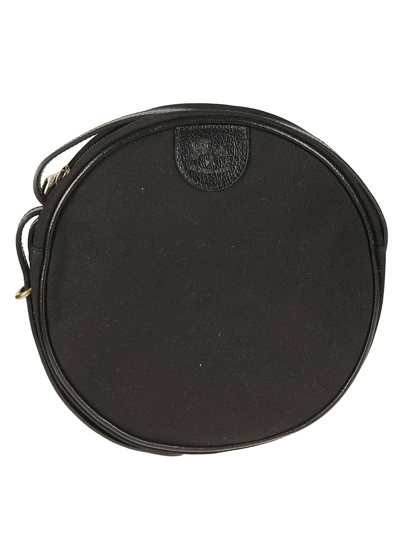 Il Bisonte Round Crossbody Bag In Black