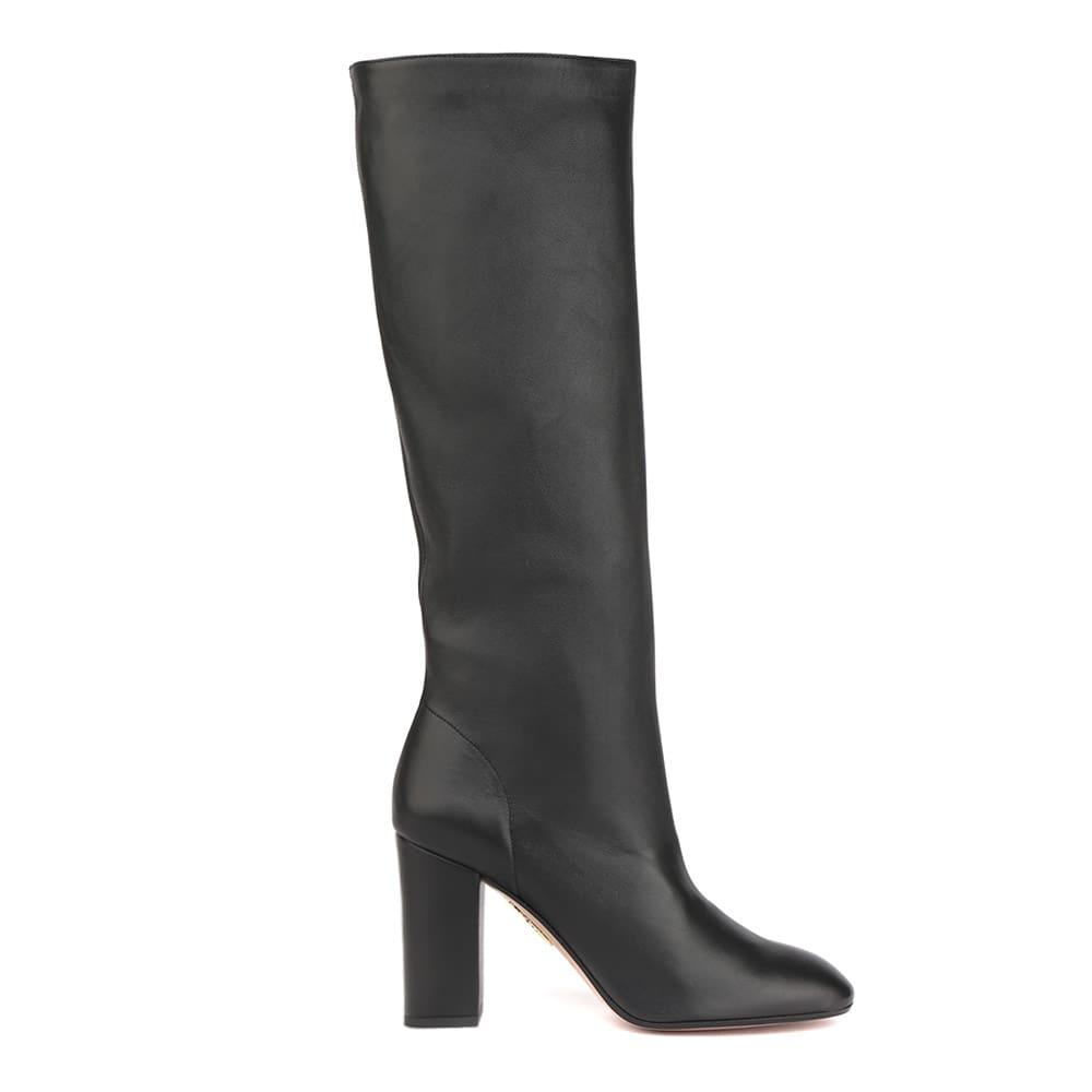 Aquazzura Black Boogie 85 Leather Boots