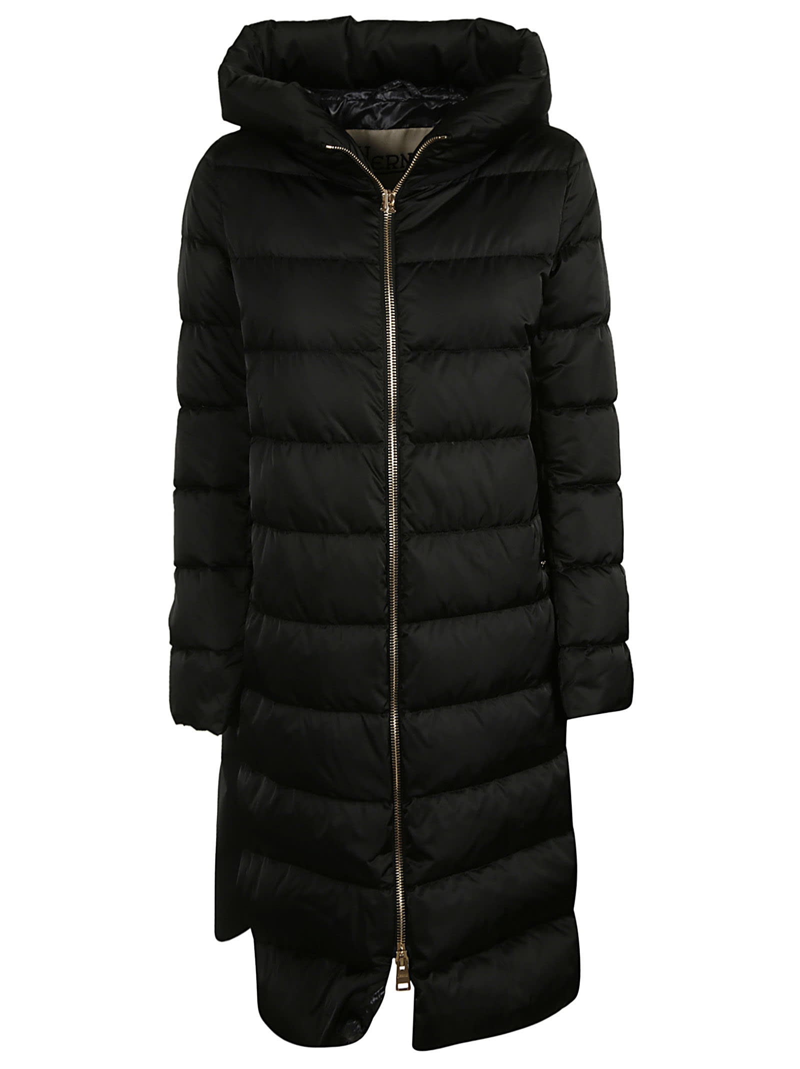 Herno Hooded Long Zipped Padded Parka