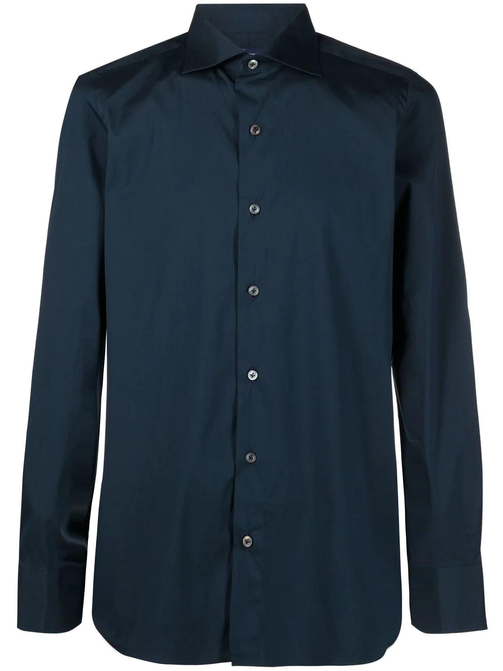 Blue Cotton-blend Shirt