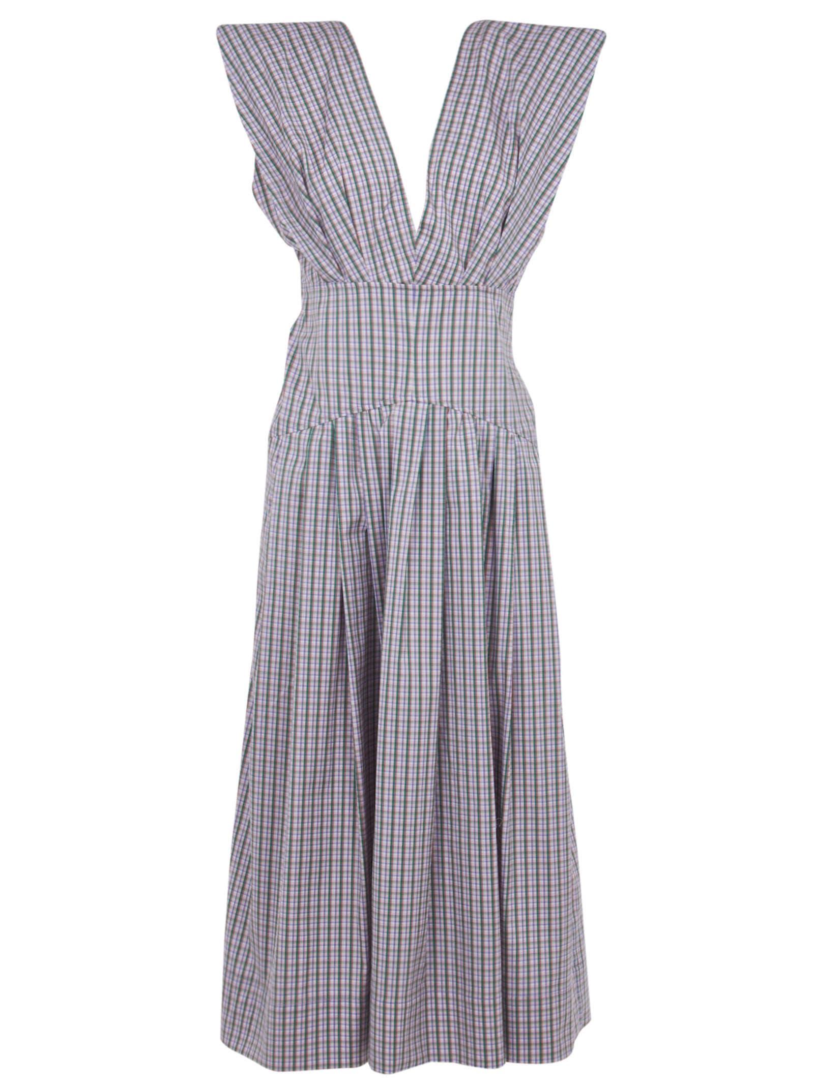 Buy Philosophy di Lorenzo Serafini V-neck Sleeveless Long Dress online, shop Philosophy di Lorenzo Serafini with free shipping