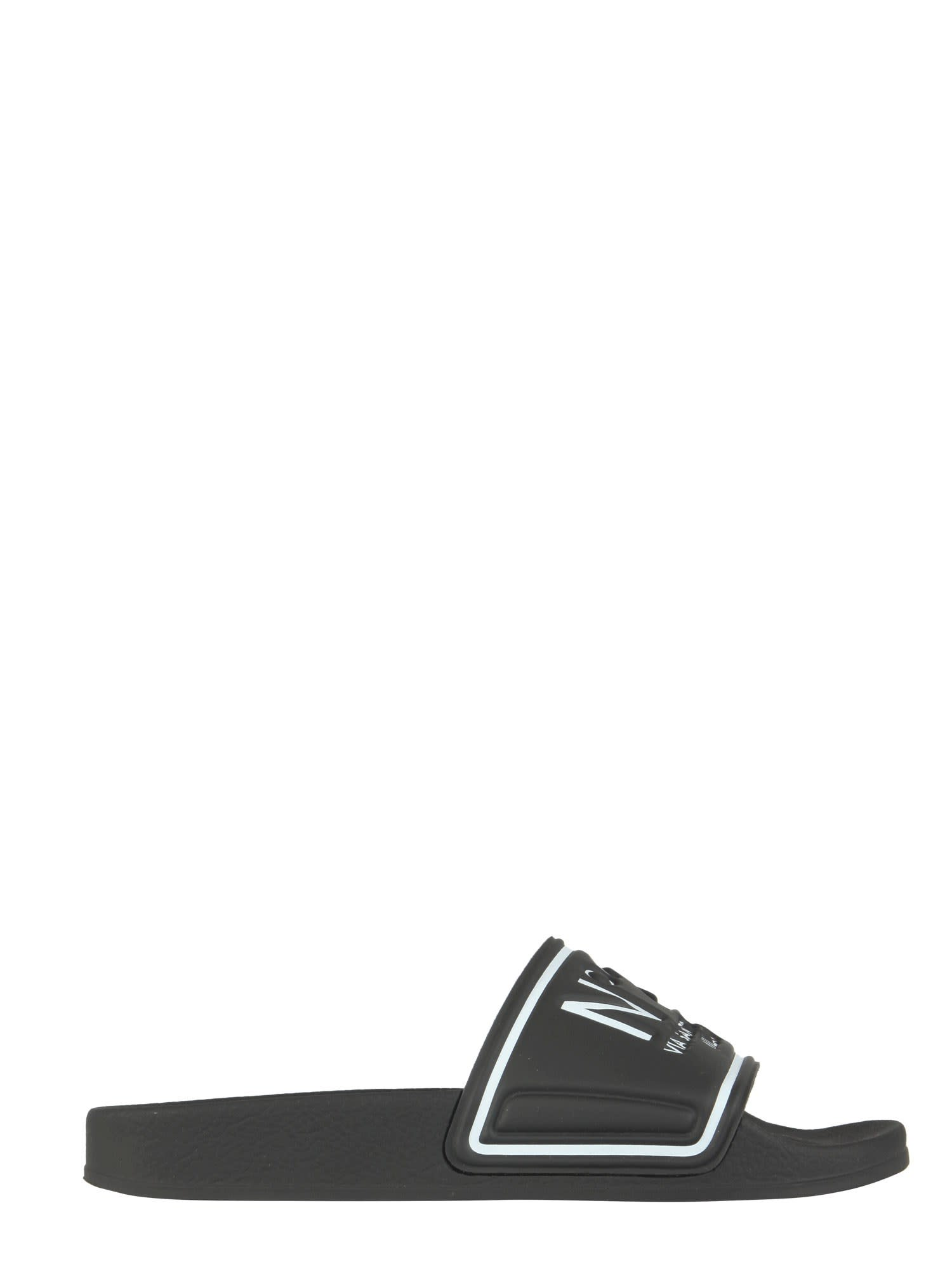 Buy N.21 Slide Sandals With Logo online, shop N.21 shoes with free shipping
