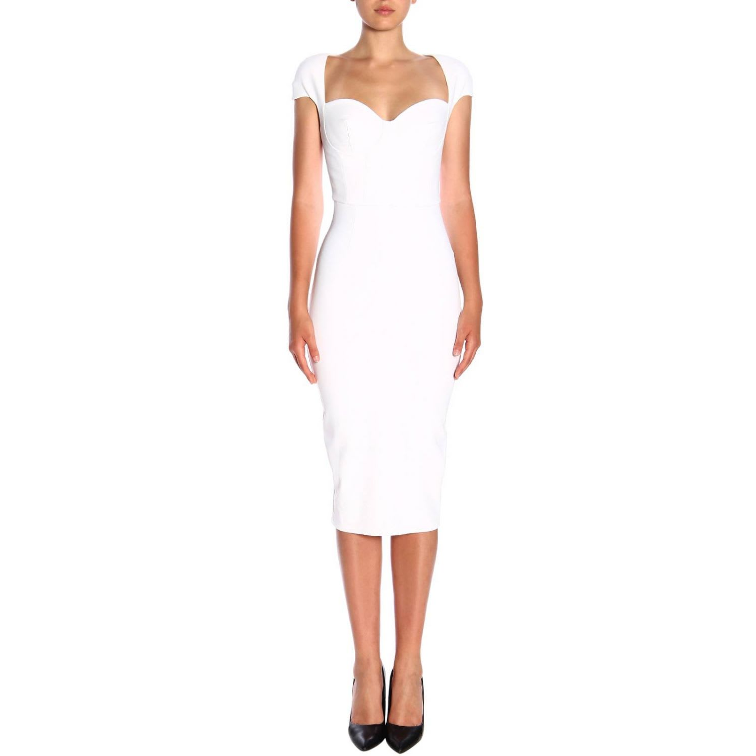Elisabetta Franchi Dress Elisabetta Franchi Longuette Dress In Crepe