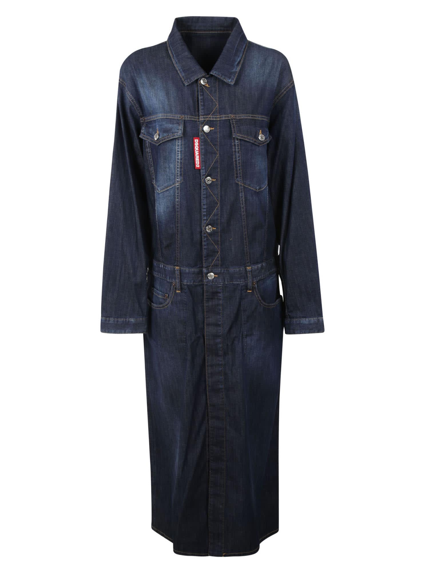 Dsquared2 Buttoned Denim Dress