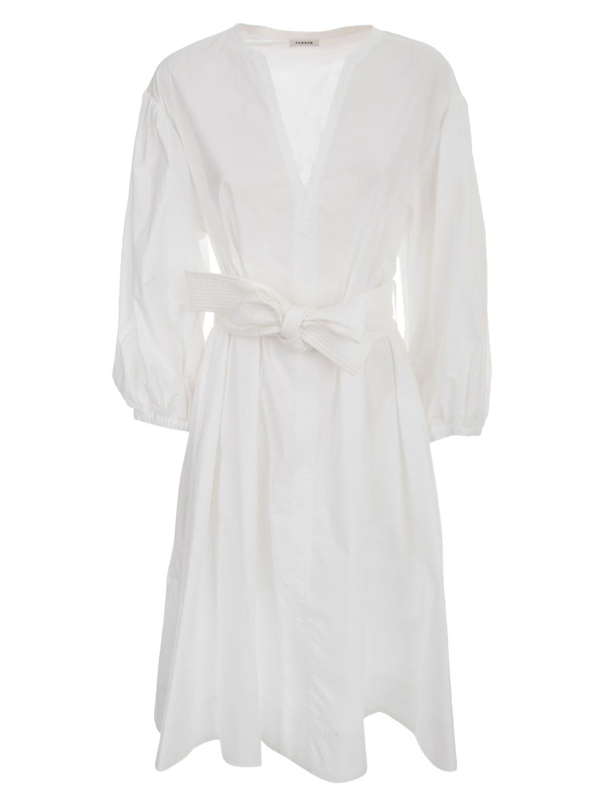 Parosh Cotton Dress 3/4s W/belt