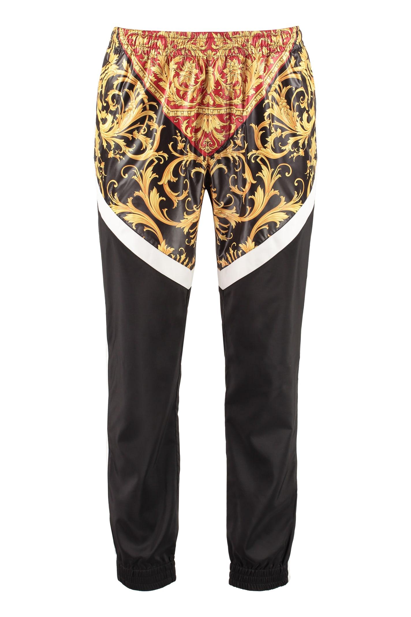 Versace Printed Techno Fabric Track Pants