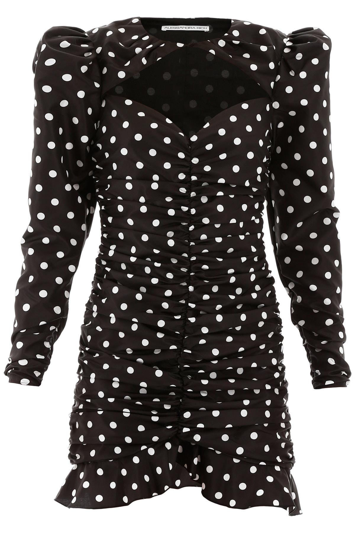 Buy Alessandra Rich Polka Dot Mini Dress online, shop Alessandra Rich with free shipping